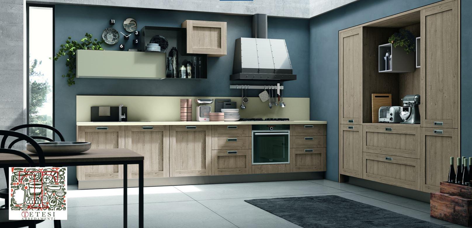 cucine in stile moderno su misura   tetesi arredamenti - Cucine Moderne Bari