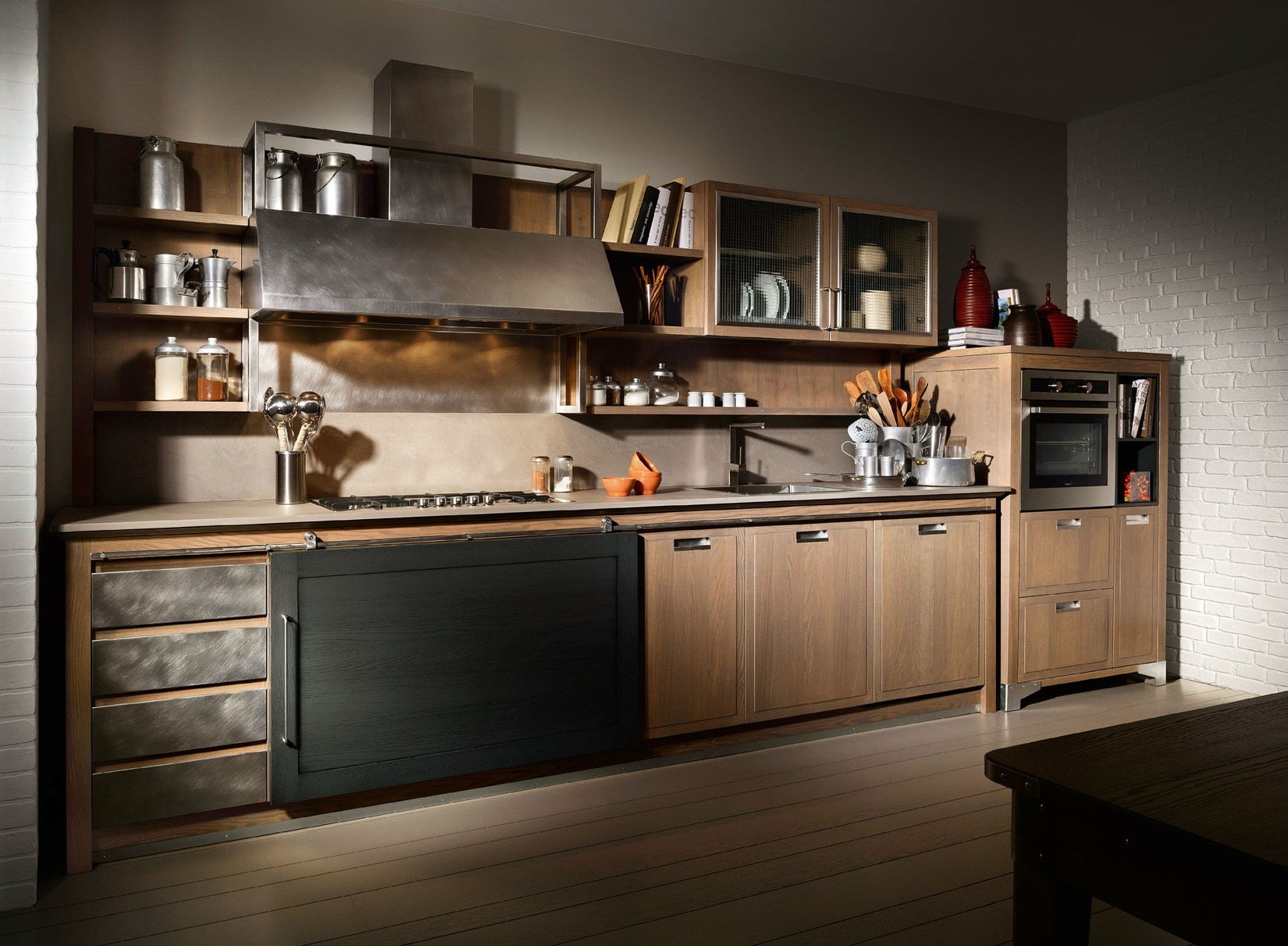 INDUSTRIAL CHIC #9C5E2F 1650 1212 Cucine Stile Industrial Chic