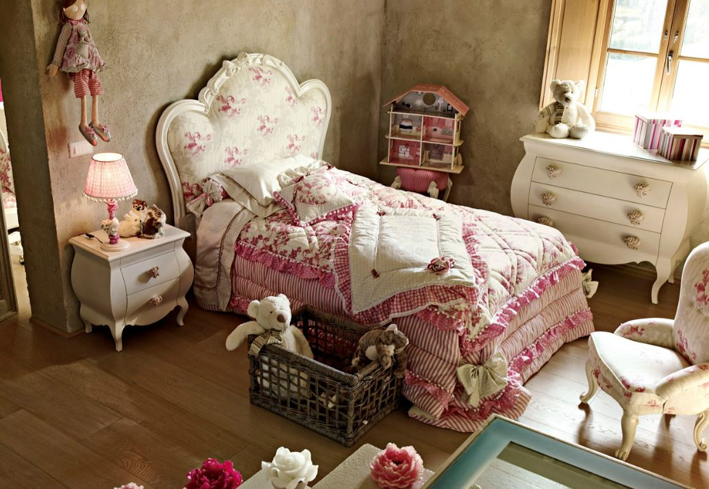 Camerette in stile new vintage su misura su progetto in - Di pietro mobili ...