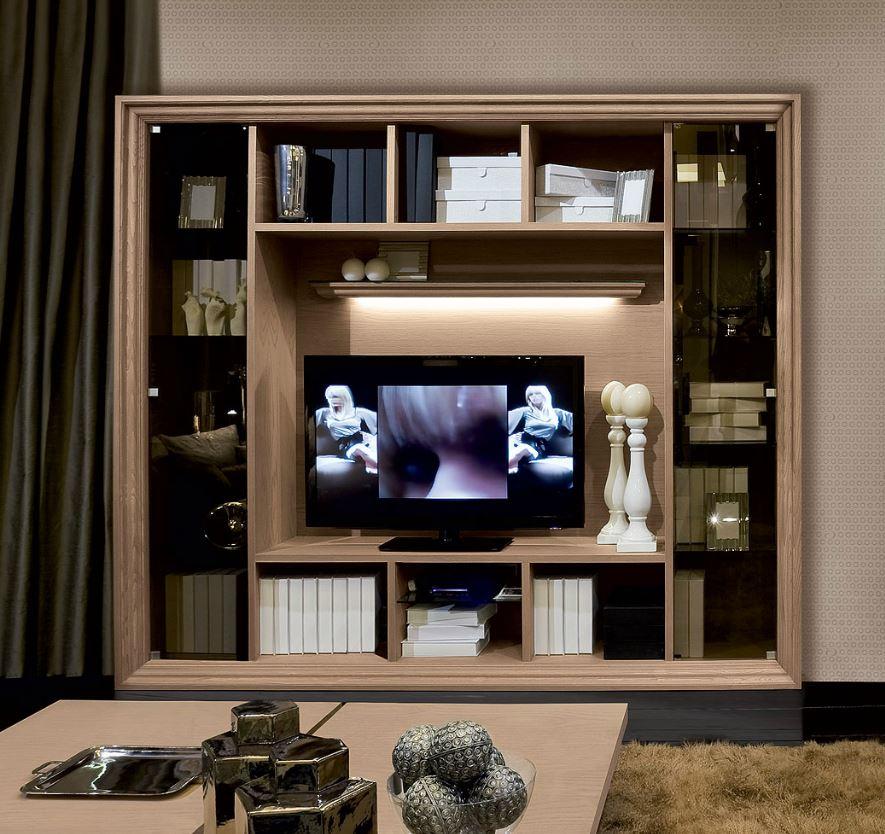 Zona giorno in stile moderno living pareti attrezzate for Saracino arredamenti