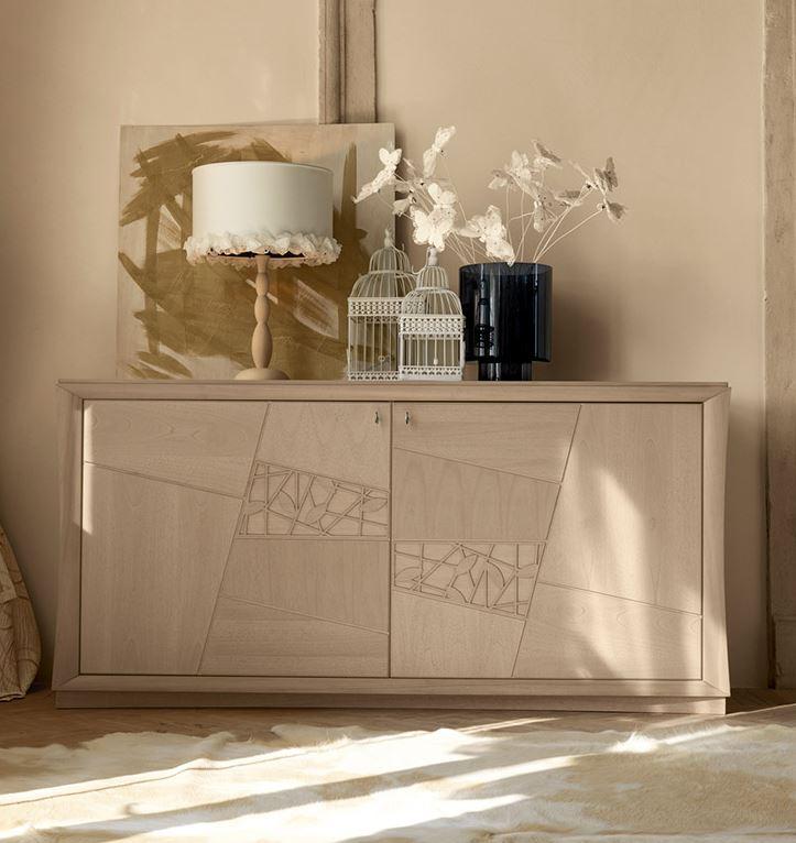 Zona giorno in stile moderno living pareti attrezzate for San michele arredamenti