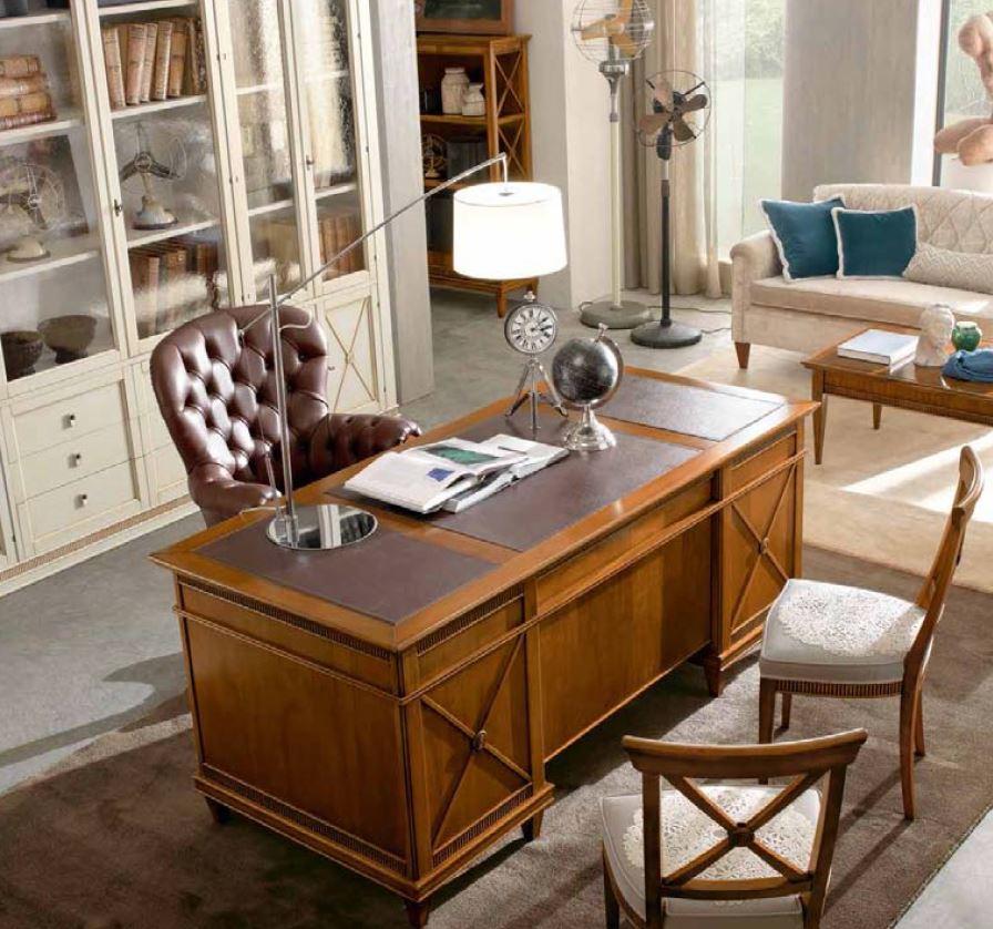 Zona studio in stile classico su misura tetesi arredamenti for Mobili studio legale