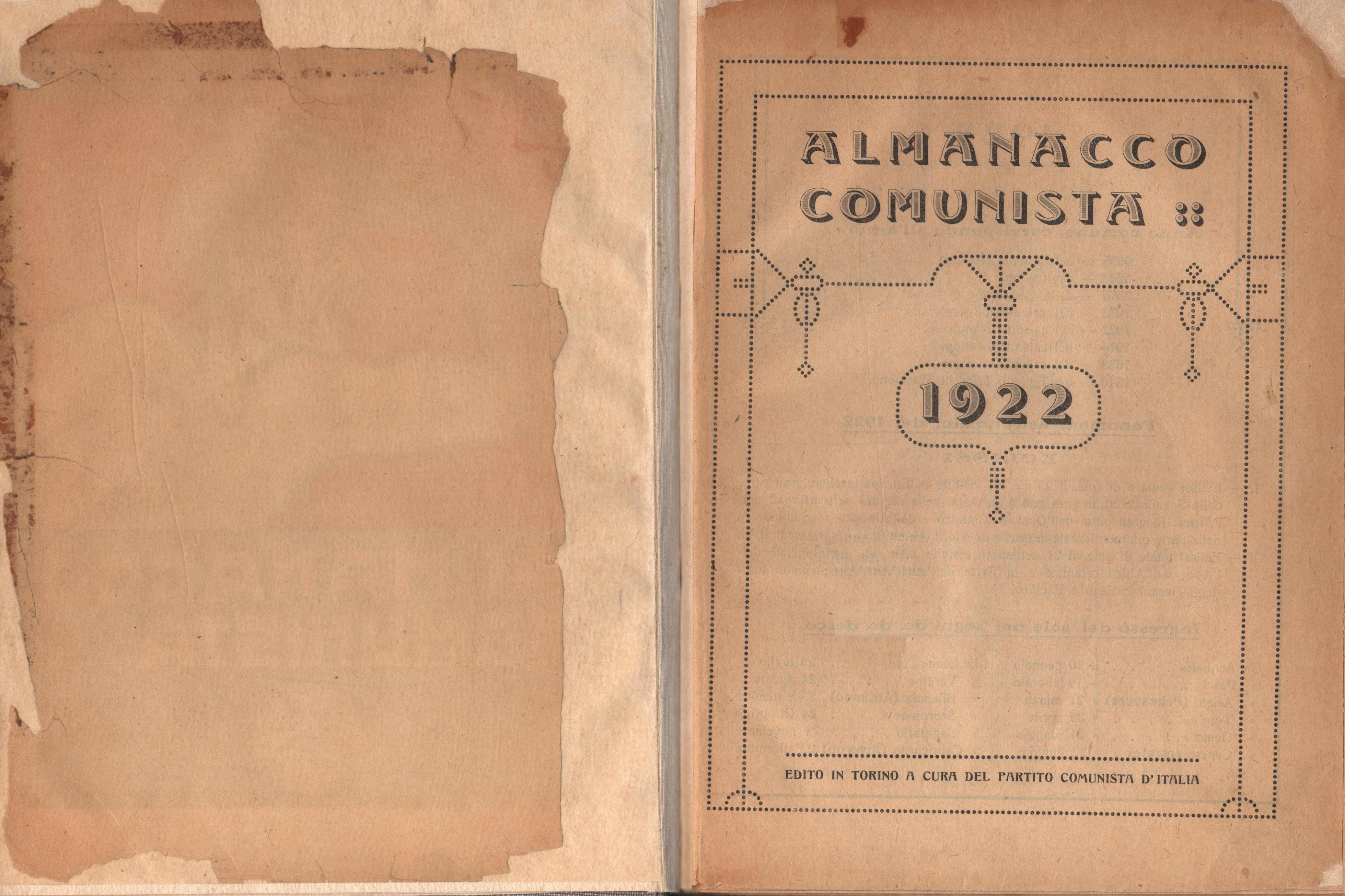 Almanacco comunista 1922 - pag. 2
