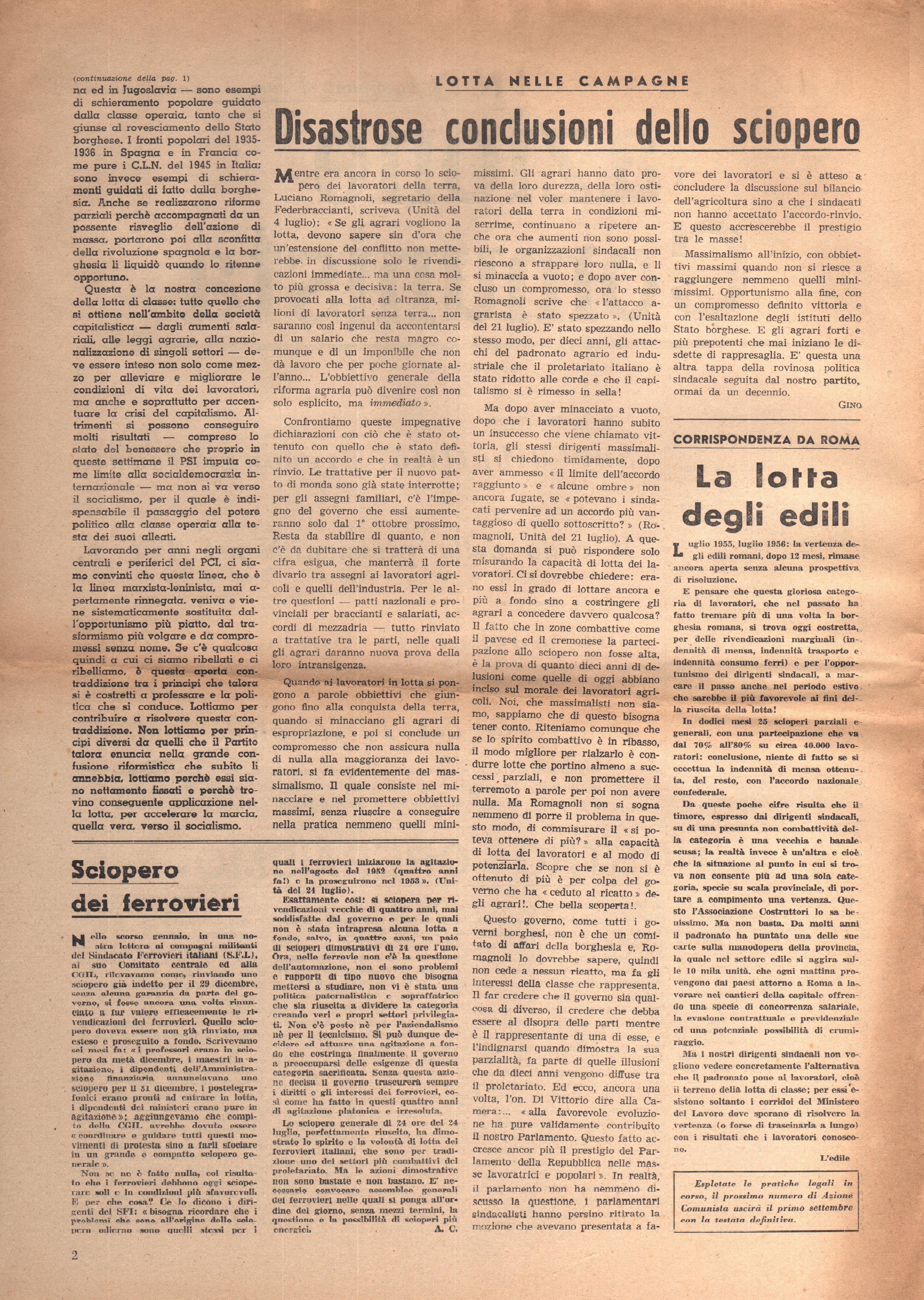 L'Azione Comunista n. 3 - pag. 2
