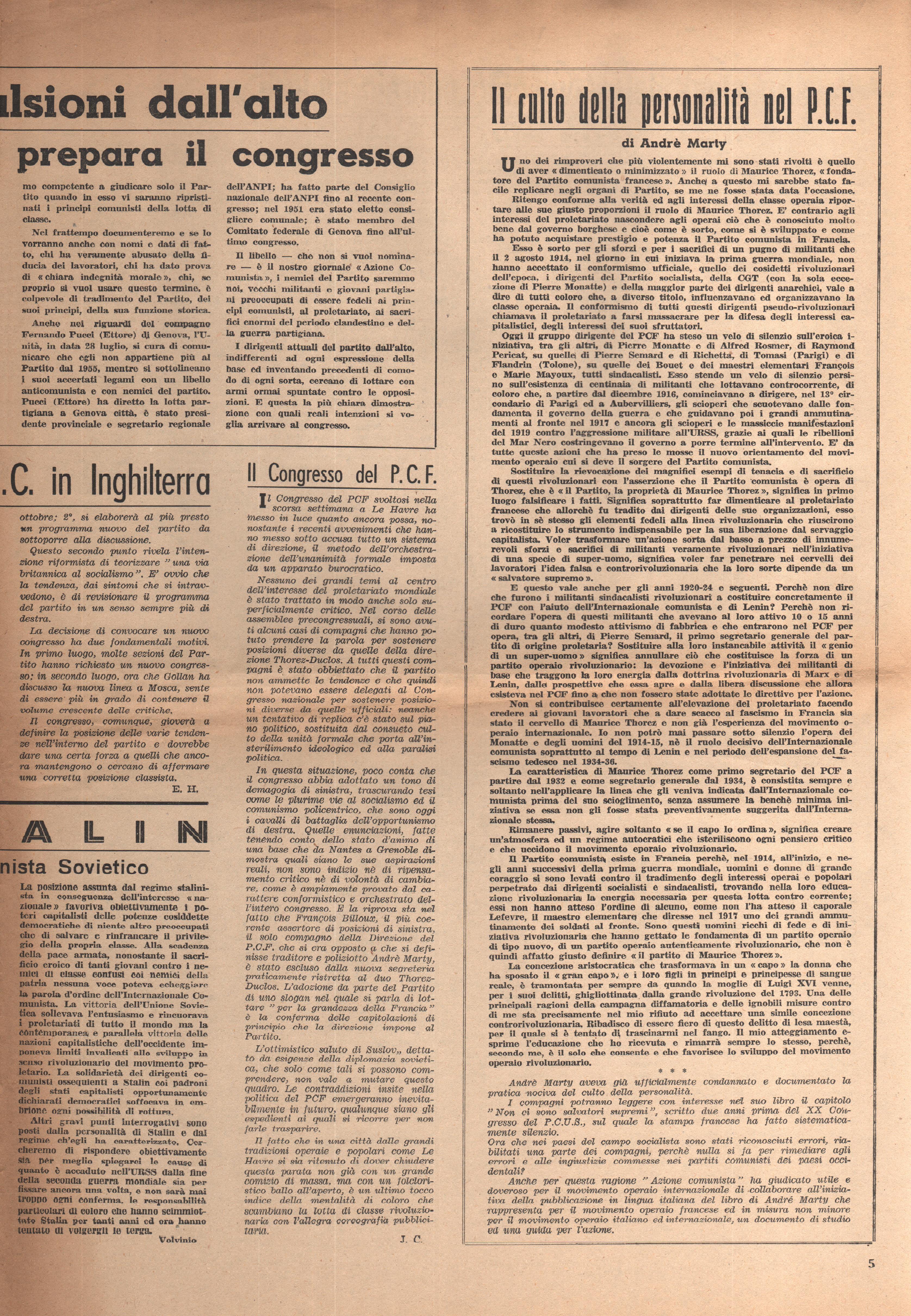 L'Azione Comunista n. 3 - pag. 5