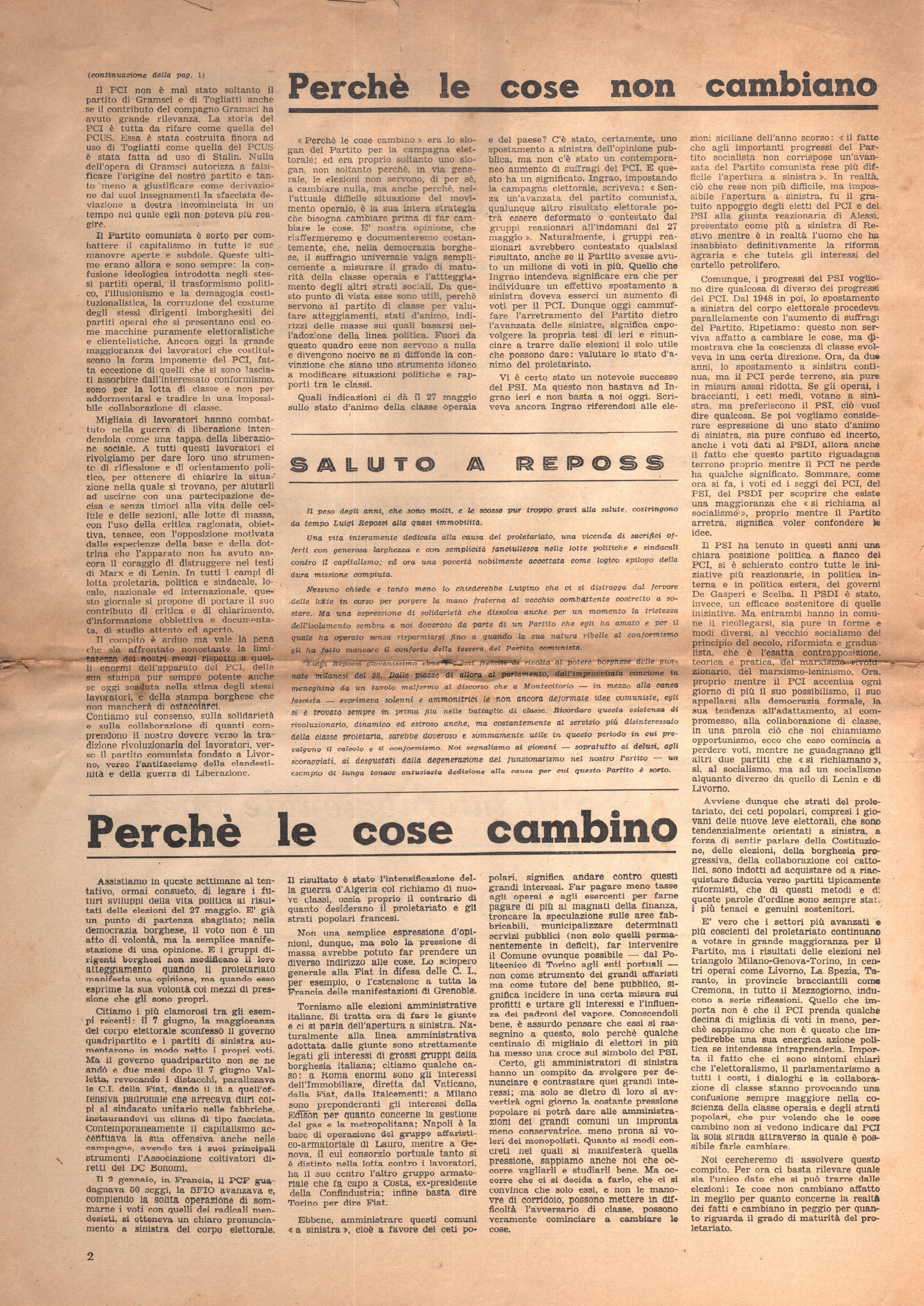 Azione Comunista n. 1 - pag. 2