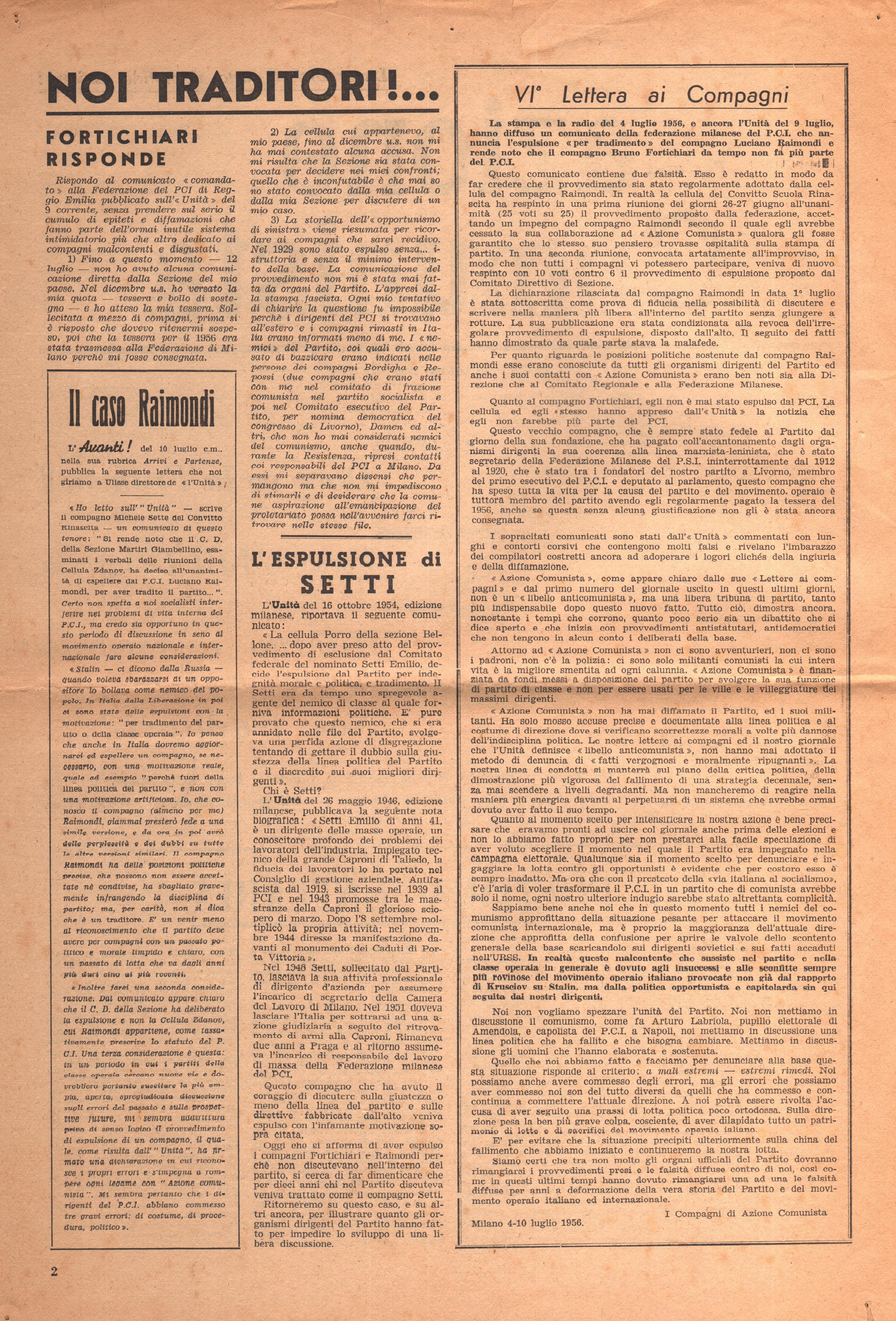 Per una Azione Comunista n. 2 - pag. 2