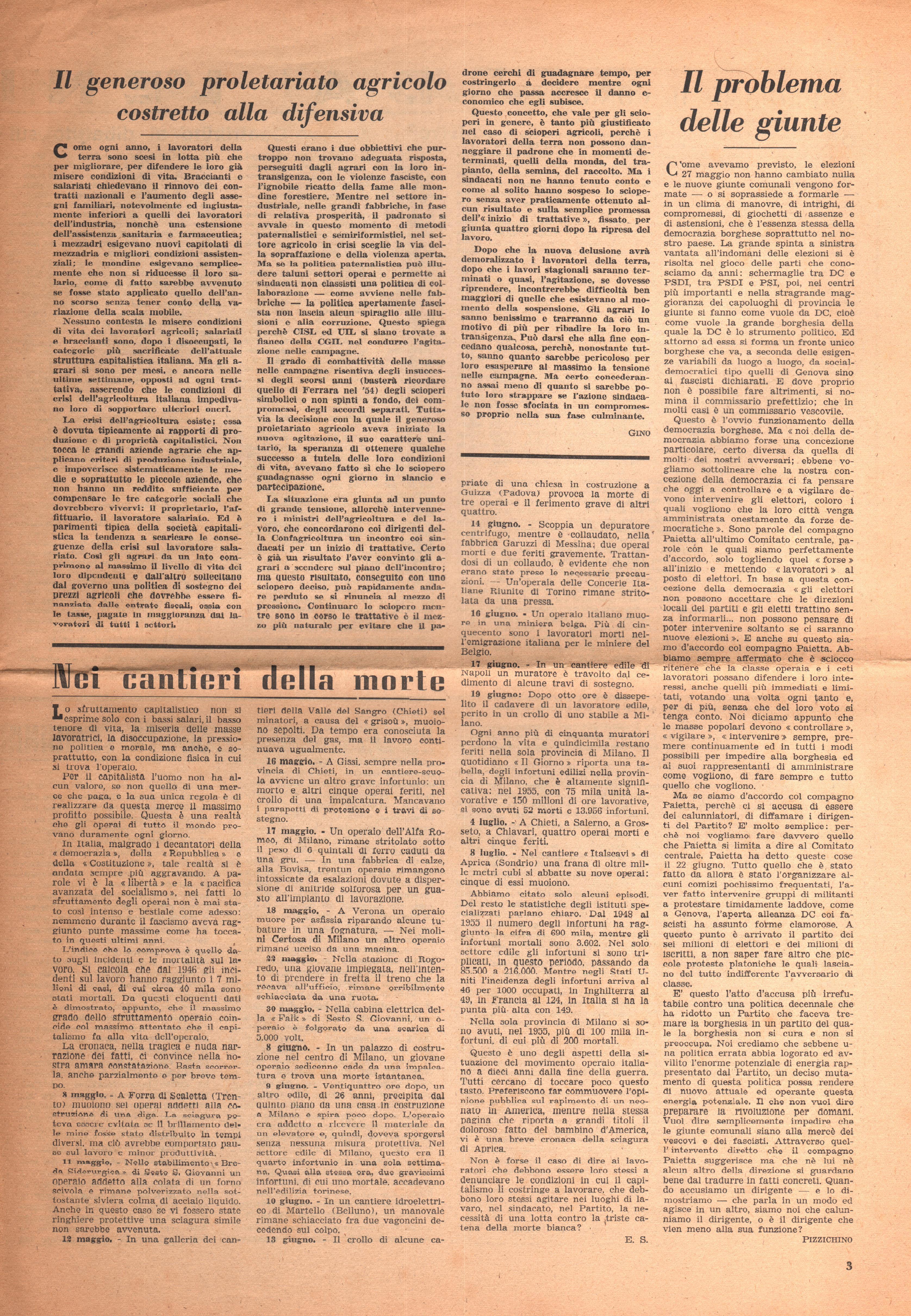 Per una Azione Comunista n. 2 - pag. 3