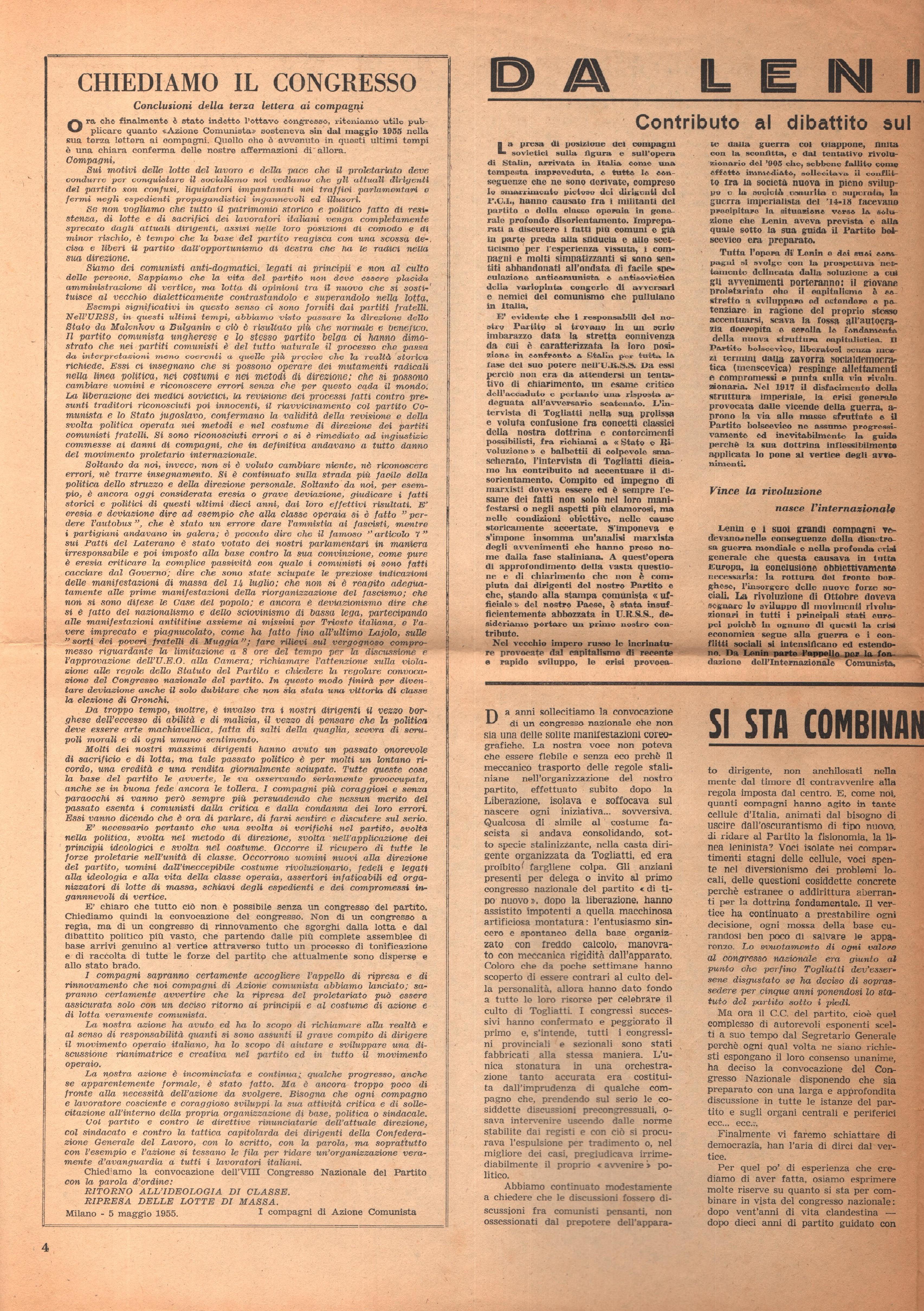Per una Azione Comunista n. 2 - pag. 4
