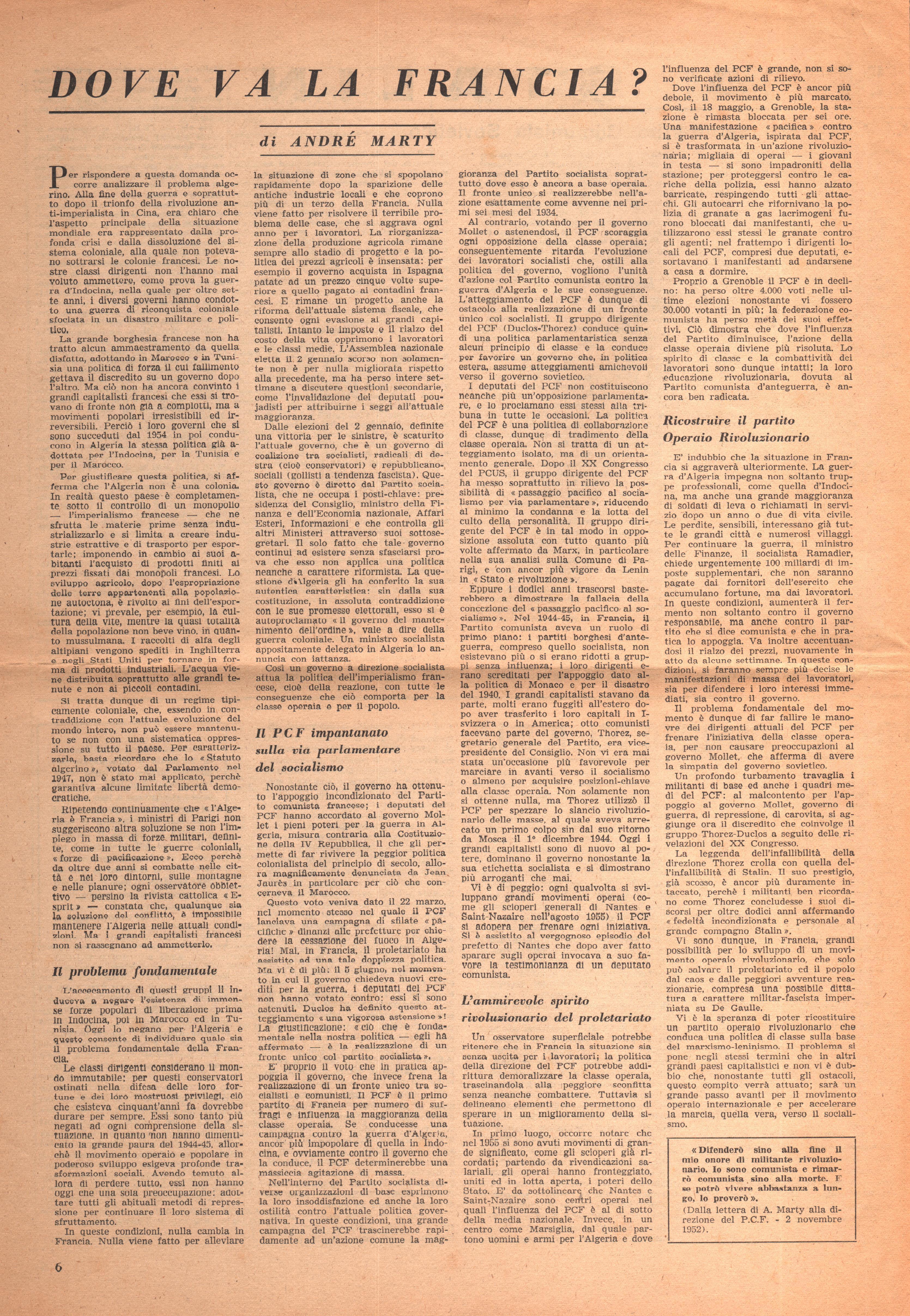 Per una Azione Comunista n. 2 - pag. 6