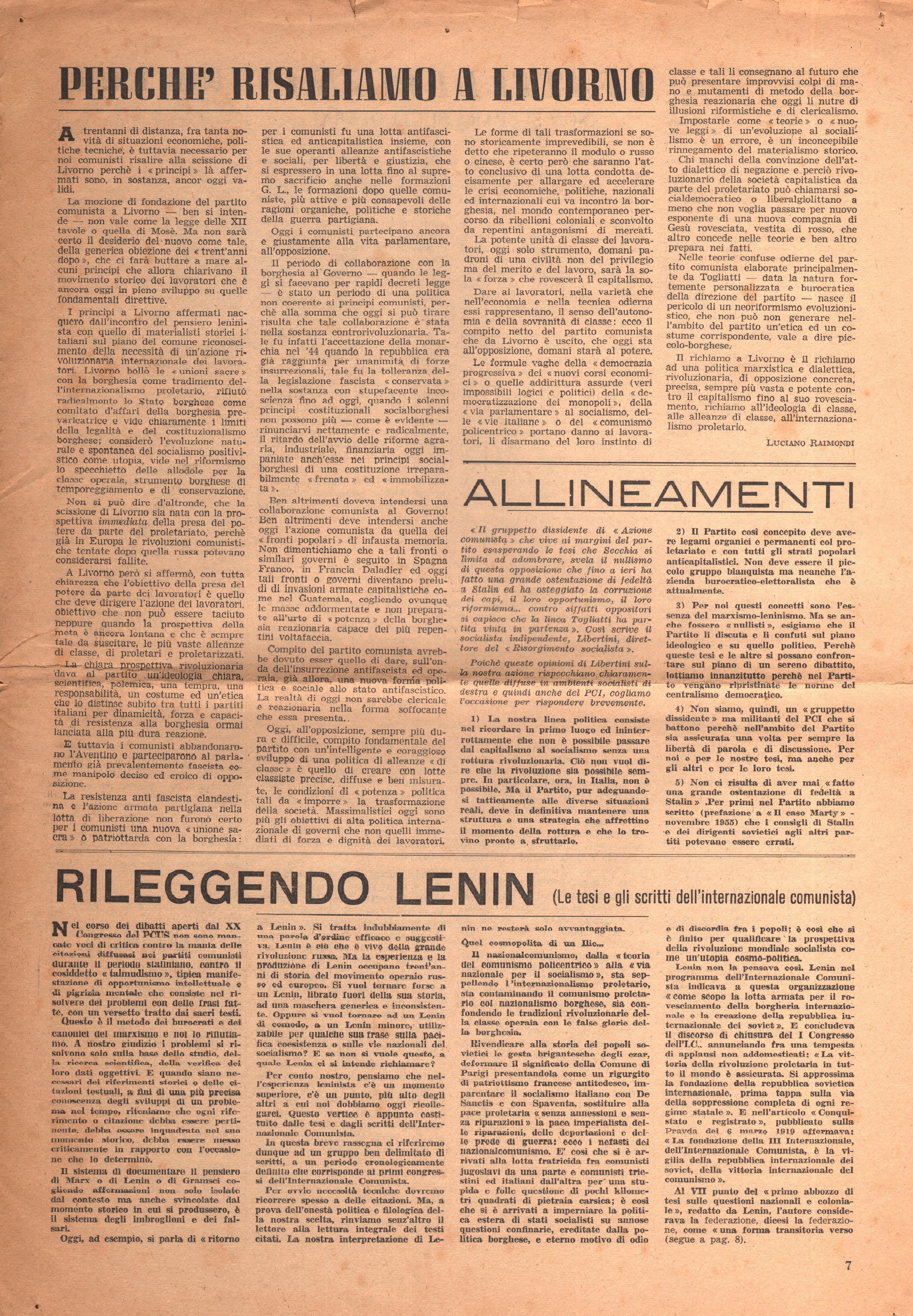 Per una Azione Comunista n. 2 - pag. 7