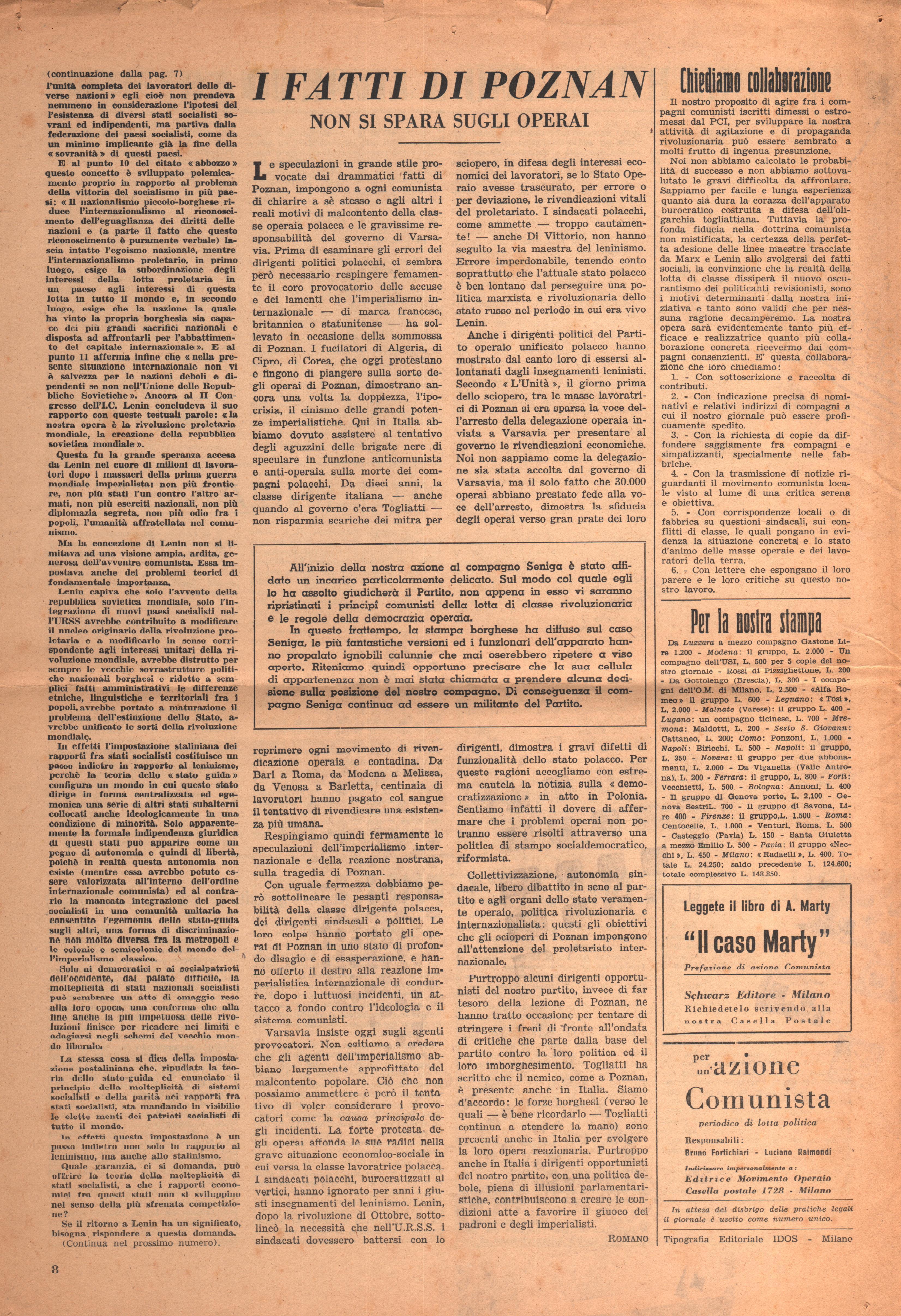Per una Azione Comunista n. 2 - pag. 8