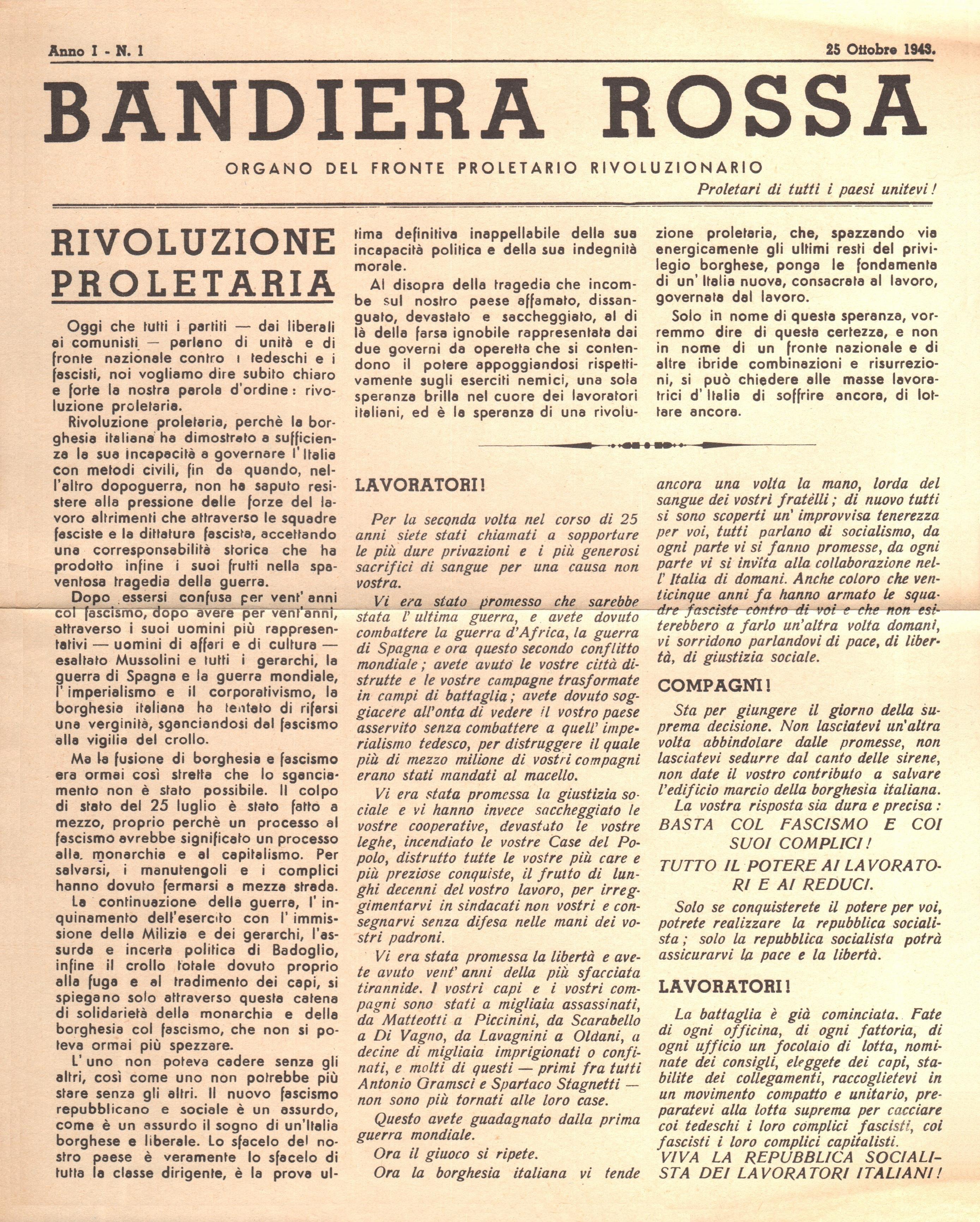 Bandiera Rossa n.1 - pag 1