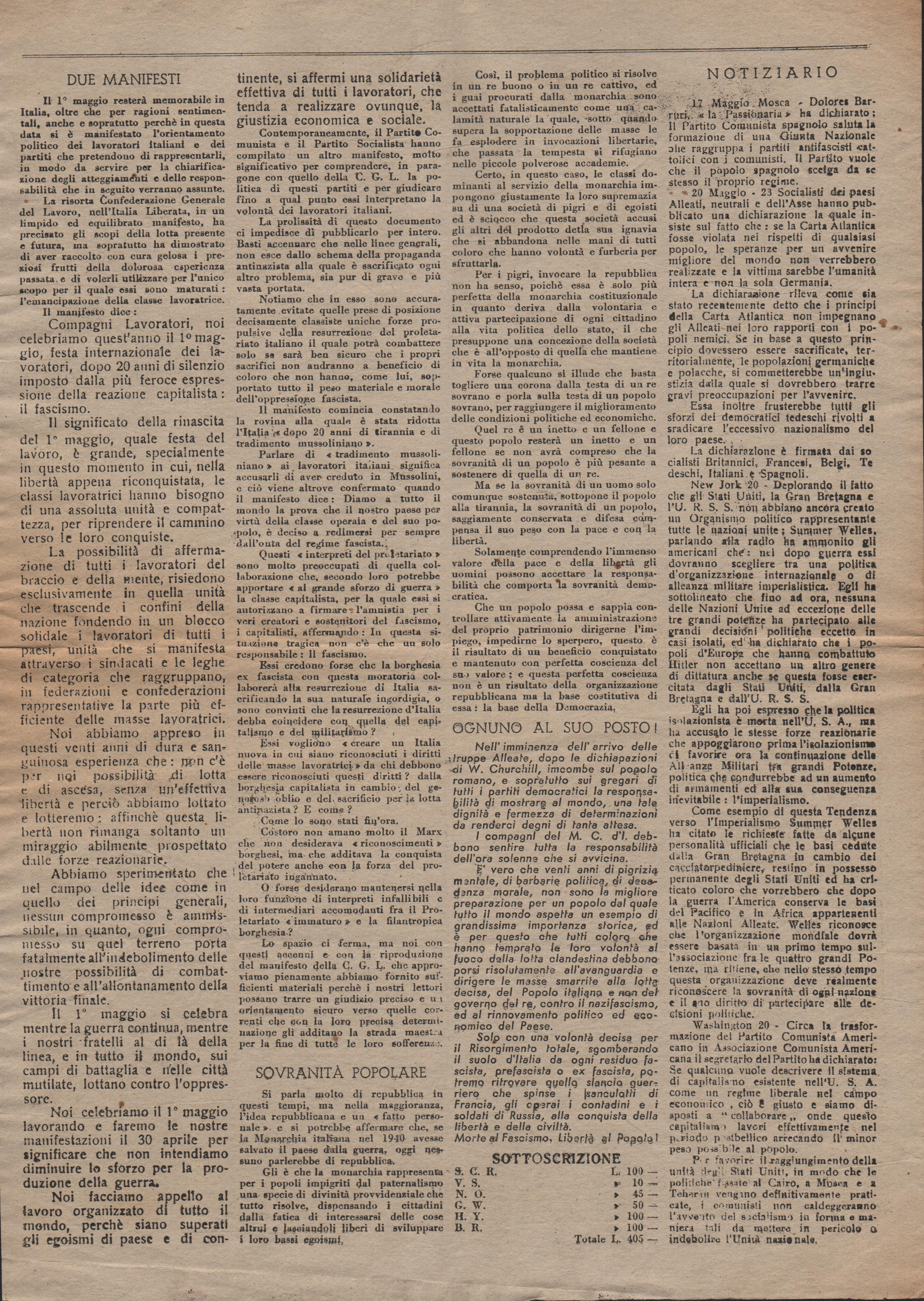 Bandiera Rossa n.10 (10 giugno 1944) - pag. 2