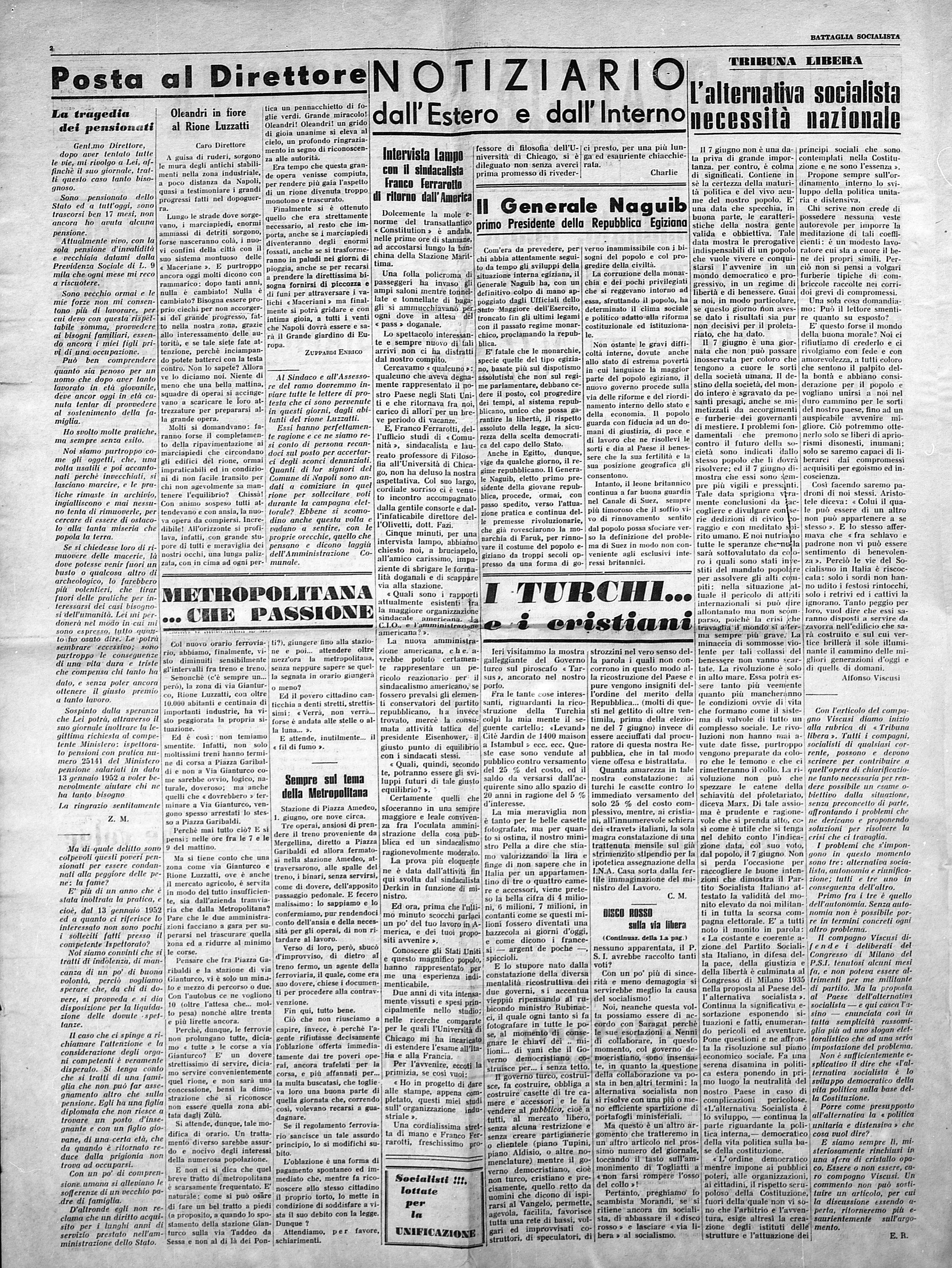 Battaglia Socialista n. 3 giugno 1953 - pag. 2