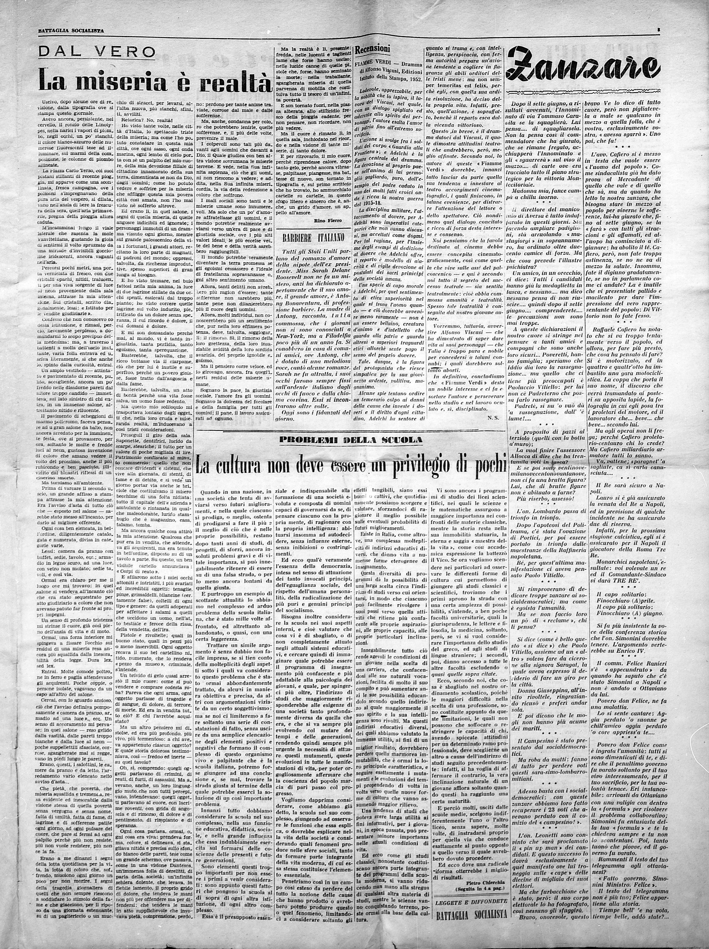 Battaglia Socialista n. 2 anno 1953 - pag. 3