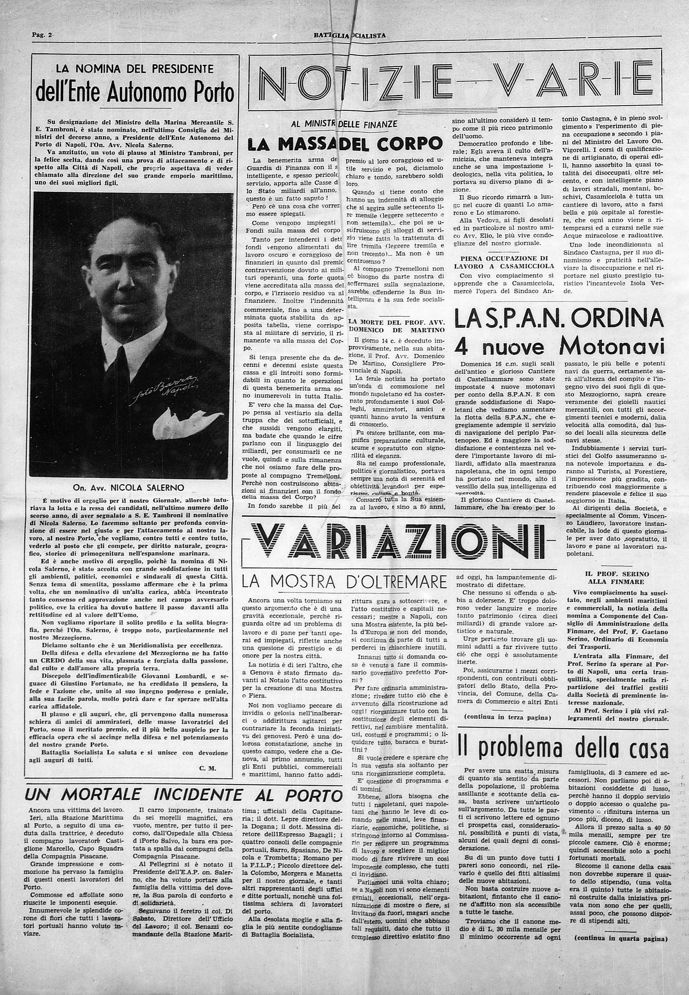 Battaglia Socialista anno III num. 1 - pag. 2