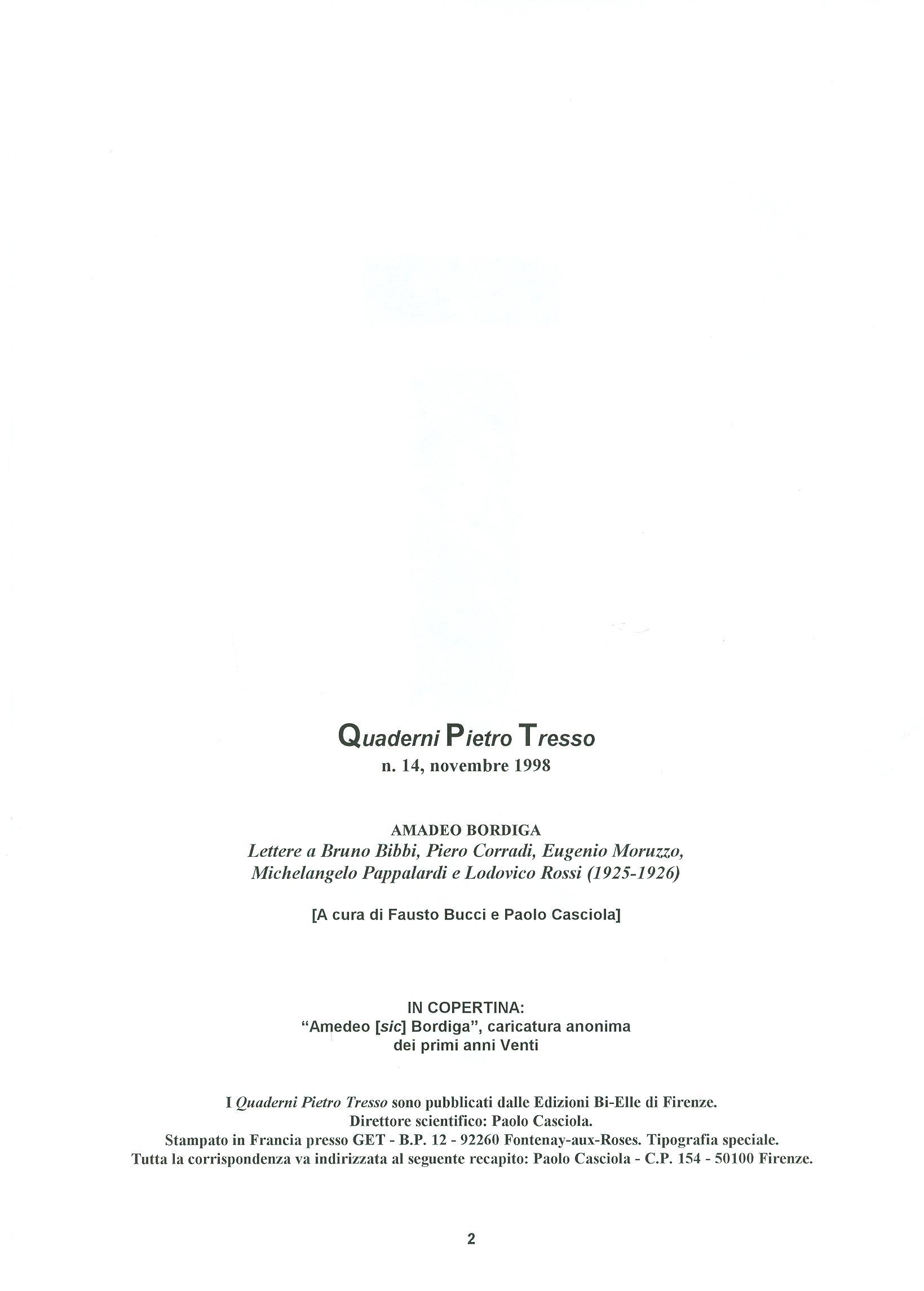 Quaderni del Centro Studi Pietro Tresso (1996-2009) n. 14 (novembre 1998) - pag. 3
