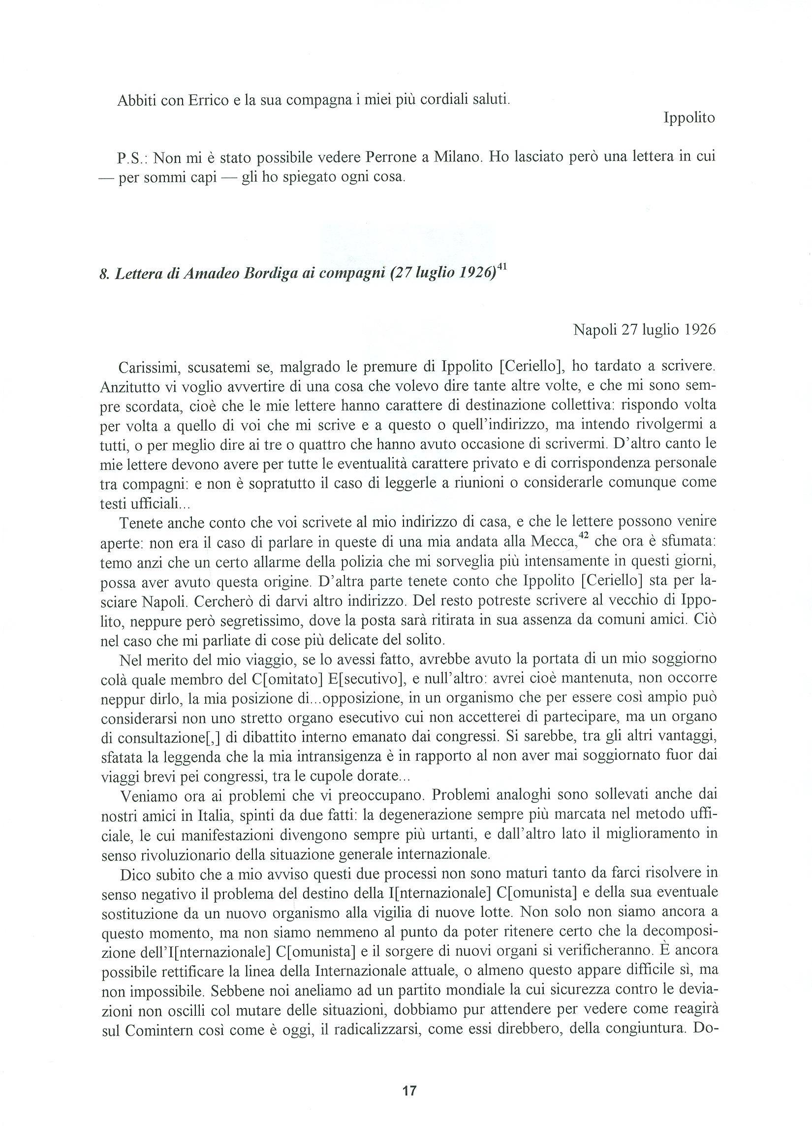 Quaderni del Centro Studi Pietro Tresso (1996-2009) n. 14 (novembre 1998) - pag. 18