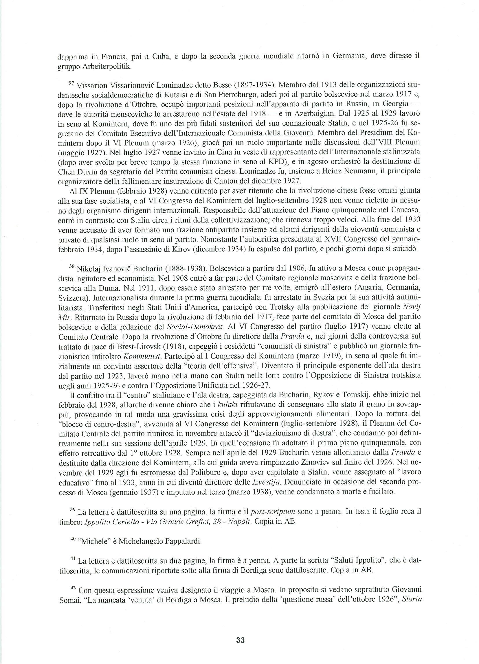 Quaderni del Centro Studi Pietro Tresso (1996-2009) n. 14 (novembre 1998) - pag. 34