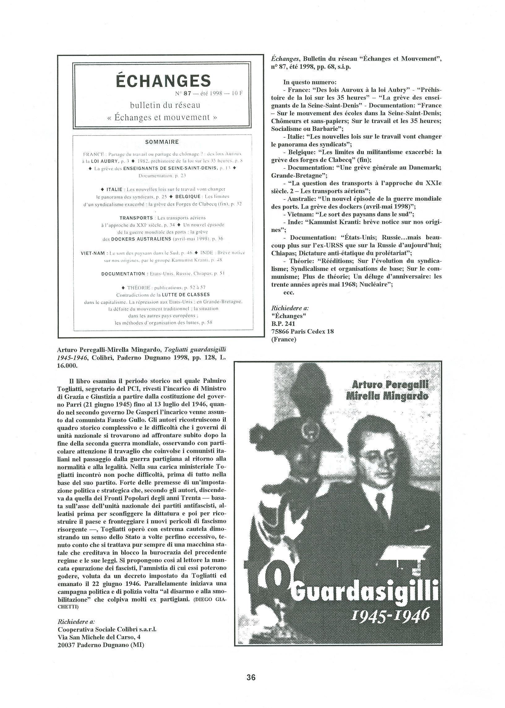 Quaderni del Centro Studi Pietro Tresso (1996-2009) n. 14 (novembre 1998) - pag. 37