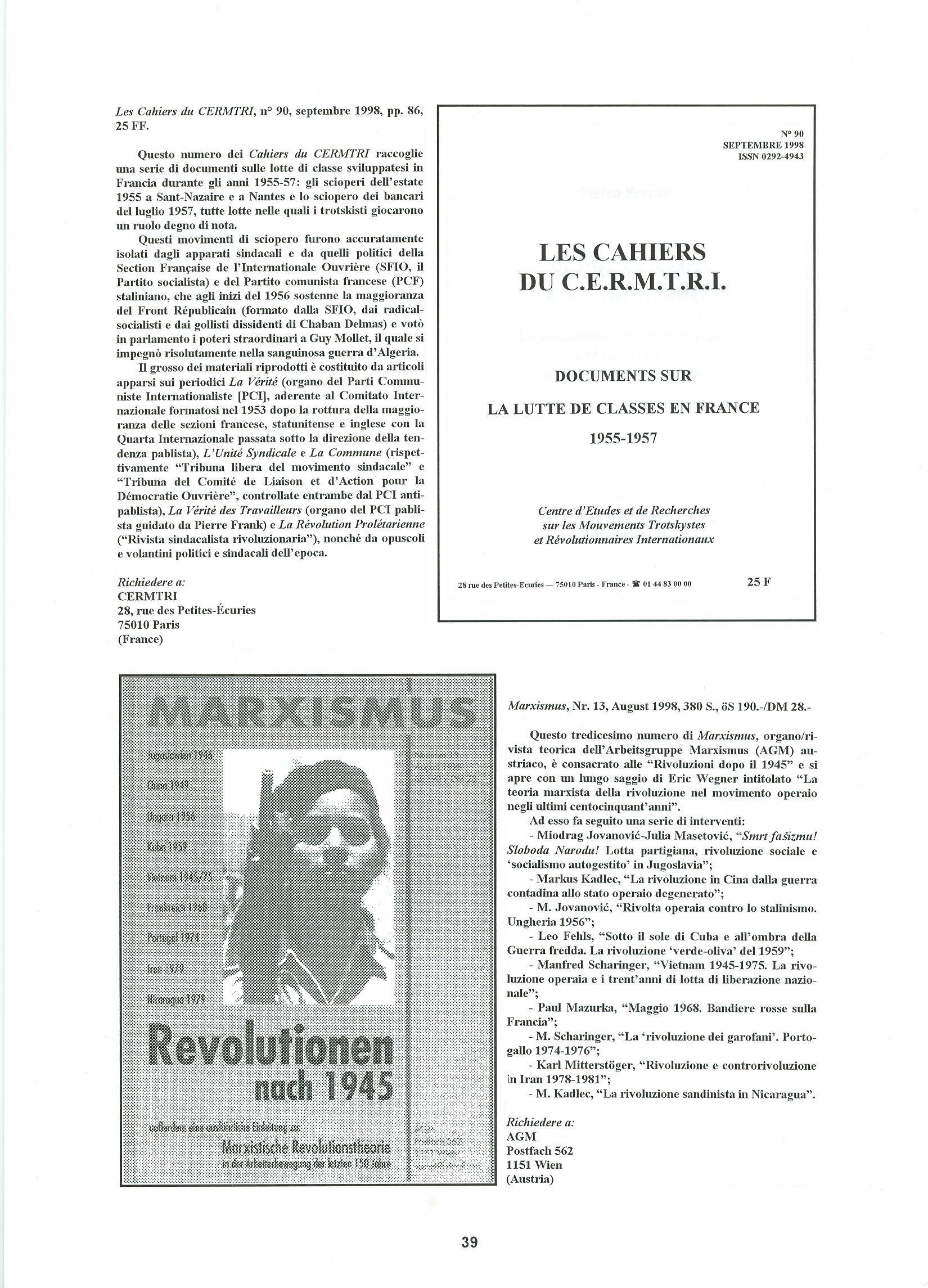 Quaderni del Centro Studi Pietro Tresso (1996-2009) n. 14 (novembre 1998) - pag. 40