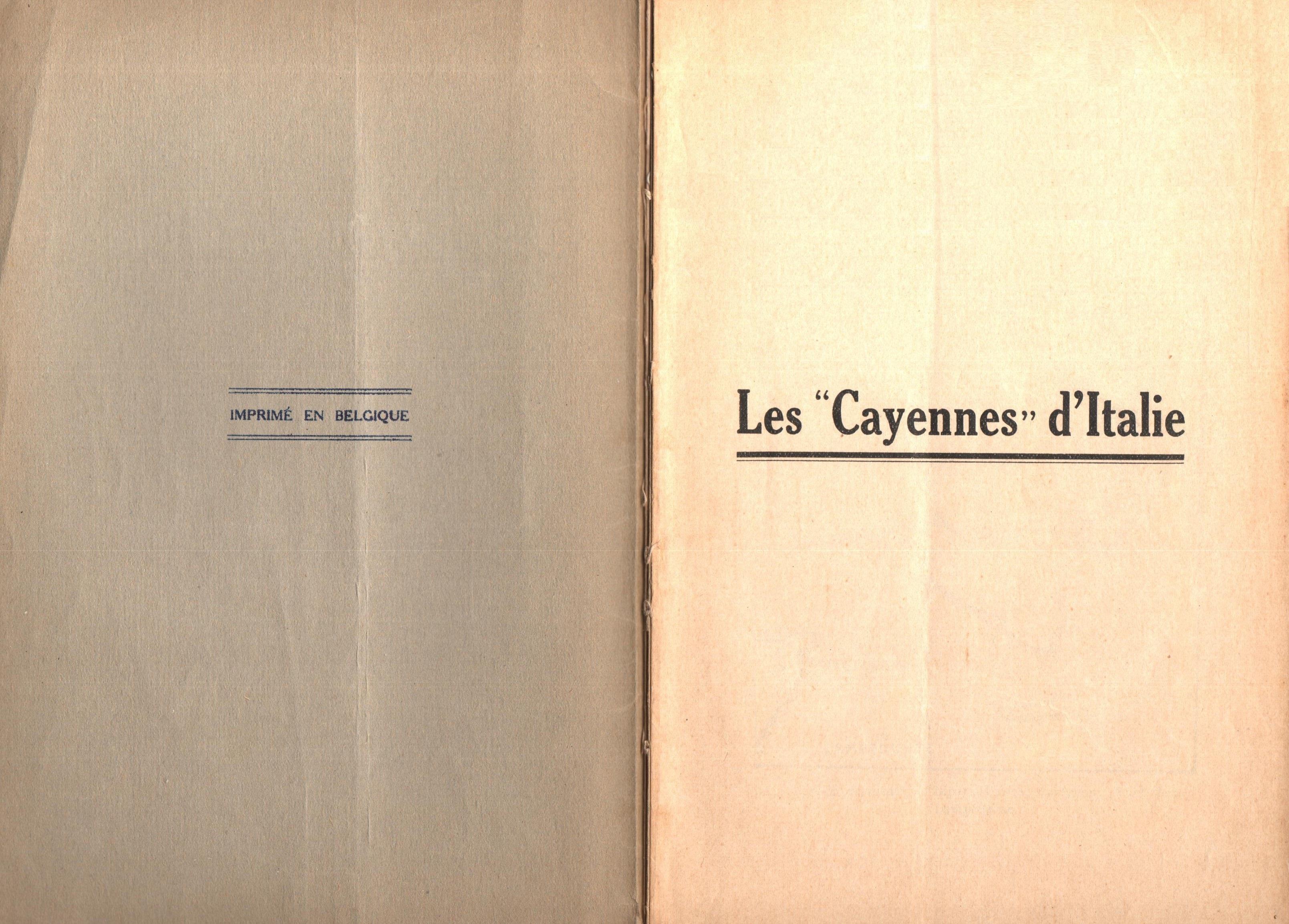 Nicola Cilla, Les «Cayennes» d'Italie - pag. 2