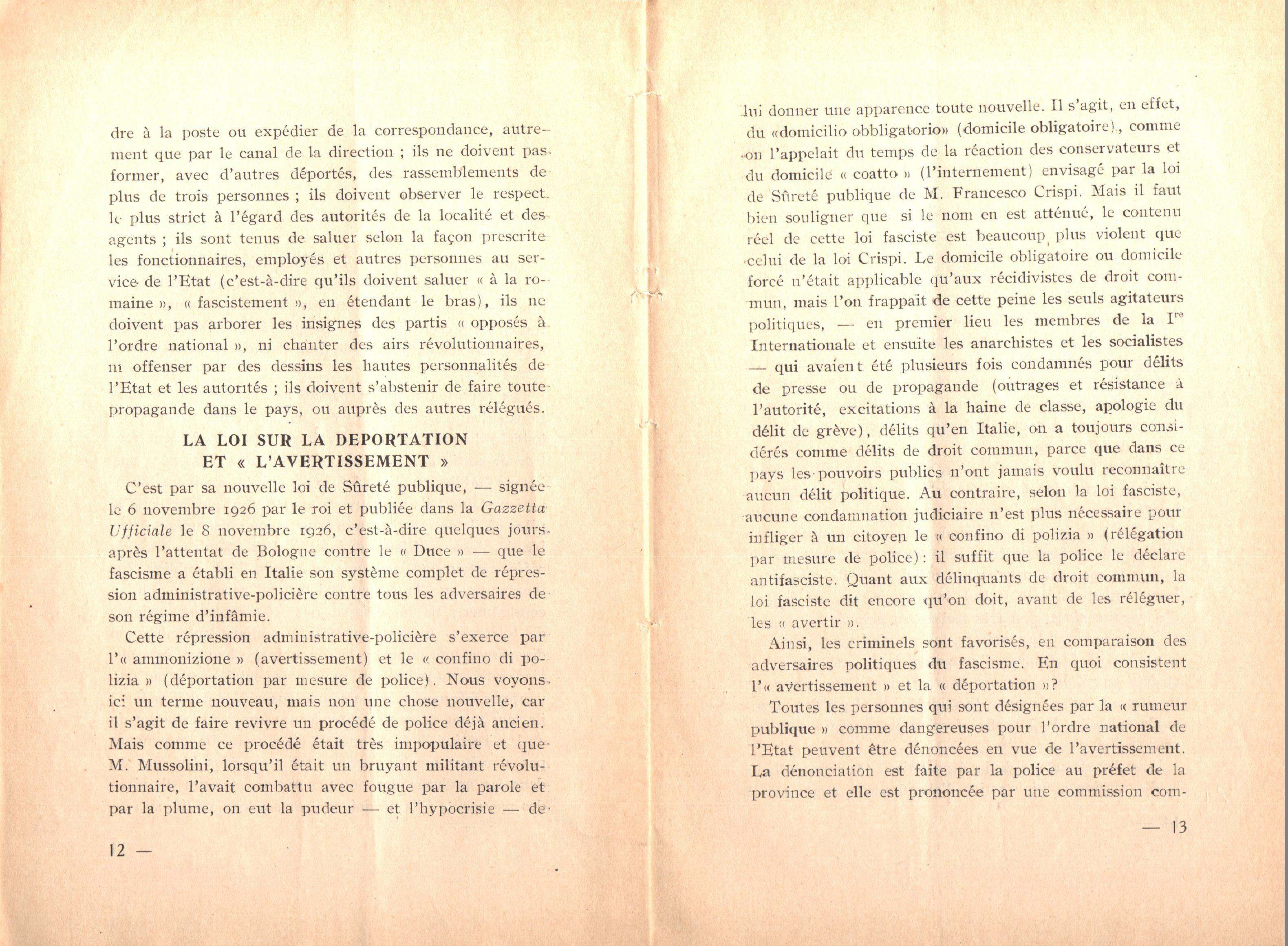Nicola Cilla, Les «Cayennes» d'Italie - pag. 8