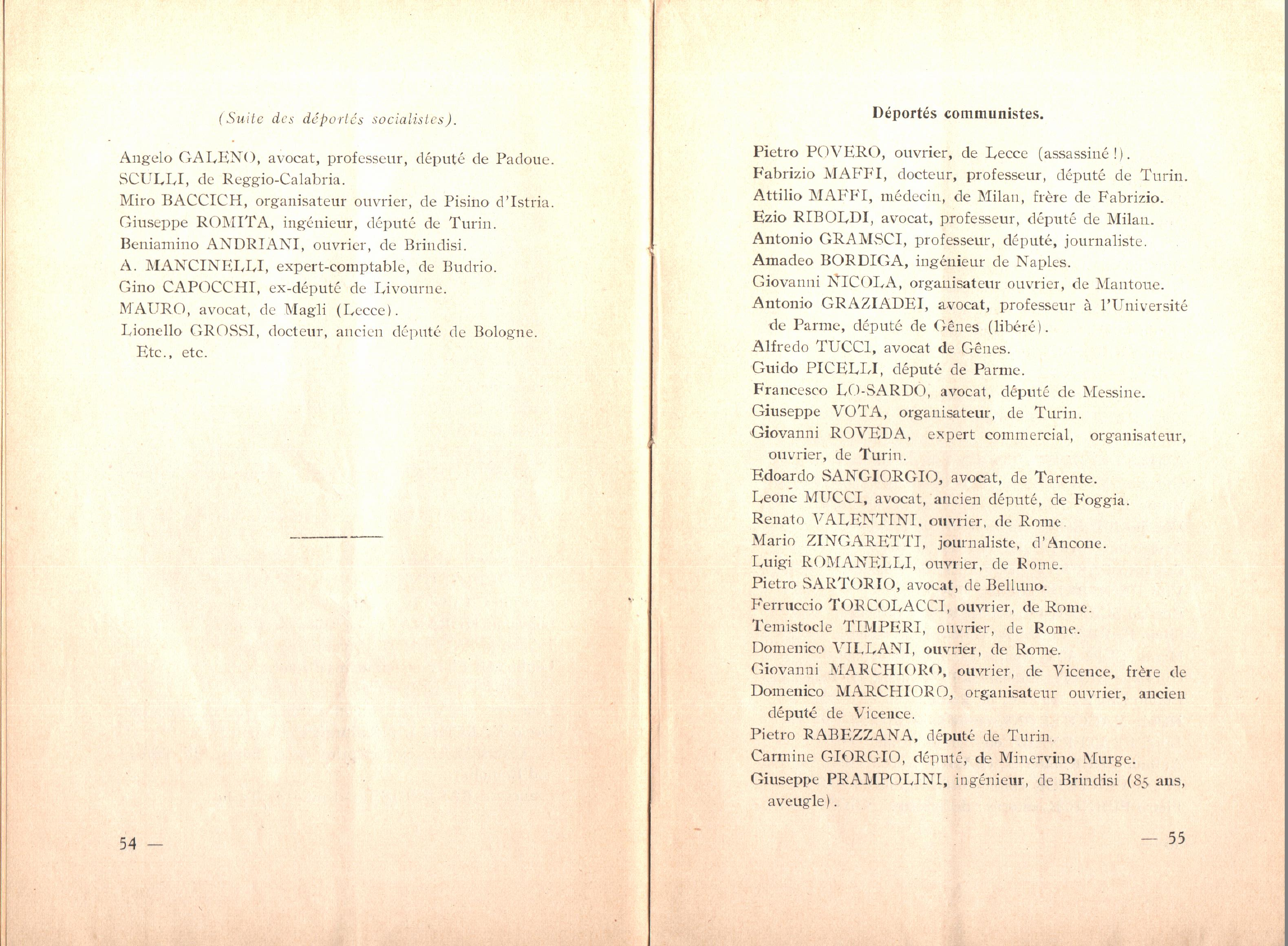 Nicola Cilla, Les «Cayennes» d'Italie - pag. 29