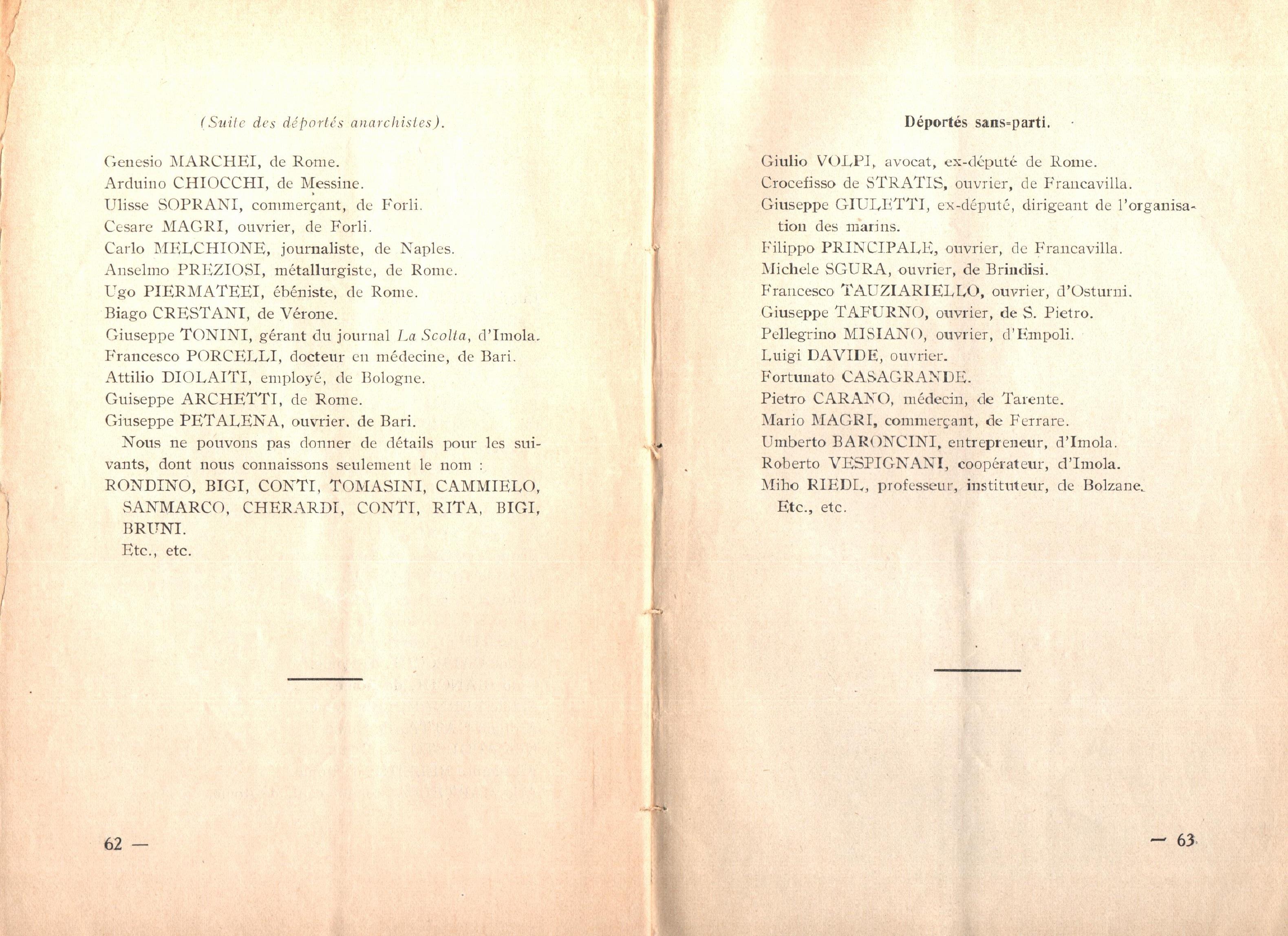 Nicola Cilla, Les «Cayennes» d'Italie - pag. 33
