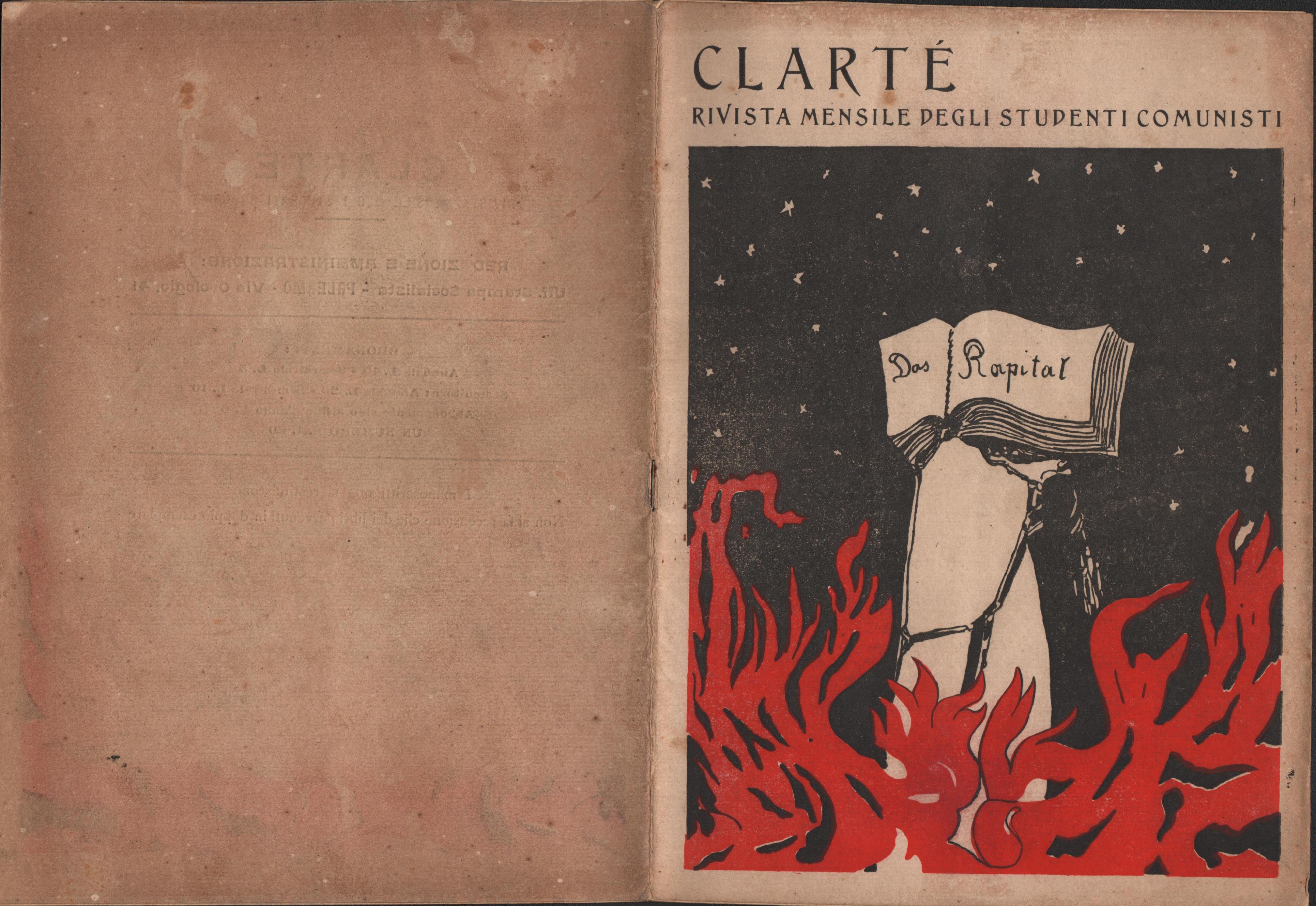 Clarté. Rivista mensile degli studenti comunisti (a. I, n. 3, Palermo, 15 luglio 1920) - pag. 1