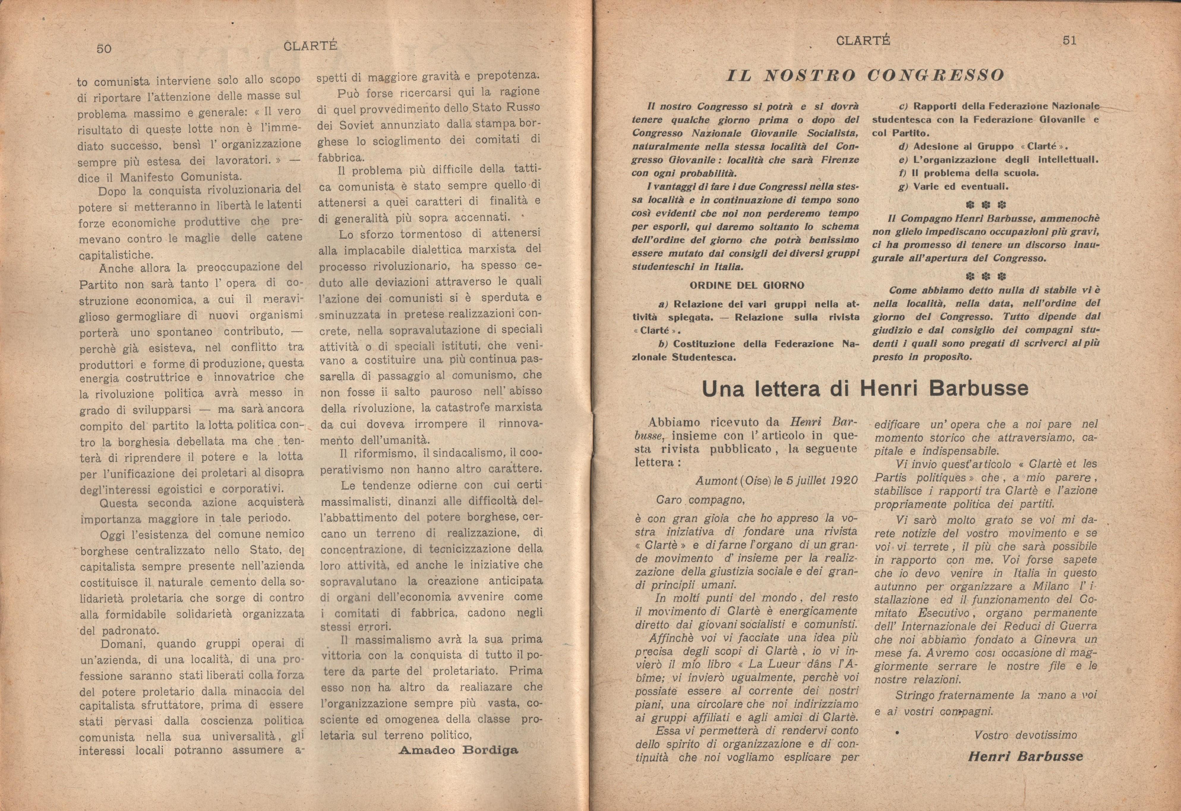 Clarté. Rivista mensile degli studenti comunisti (a. I, n. 3, Palermo, 15 luglio 1920) - pag. 3