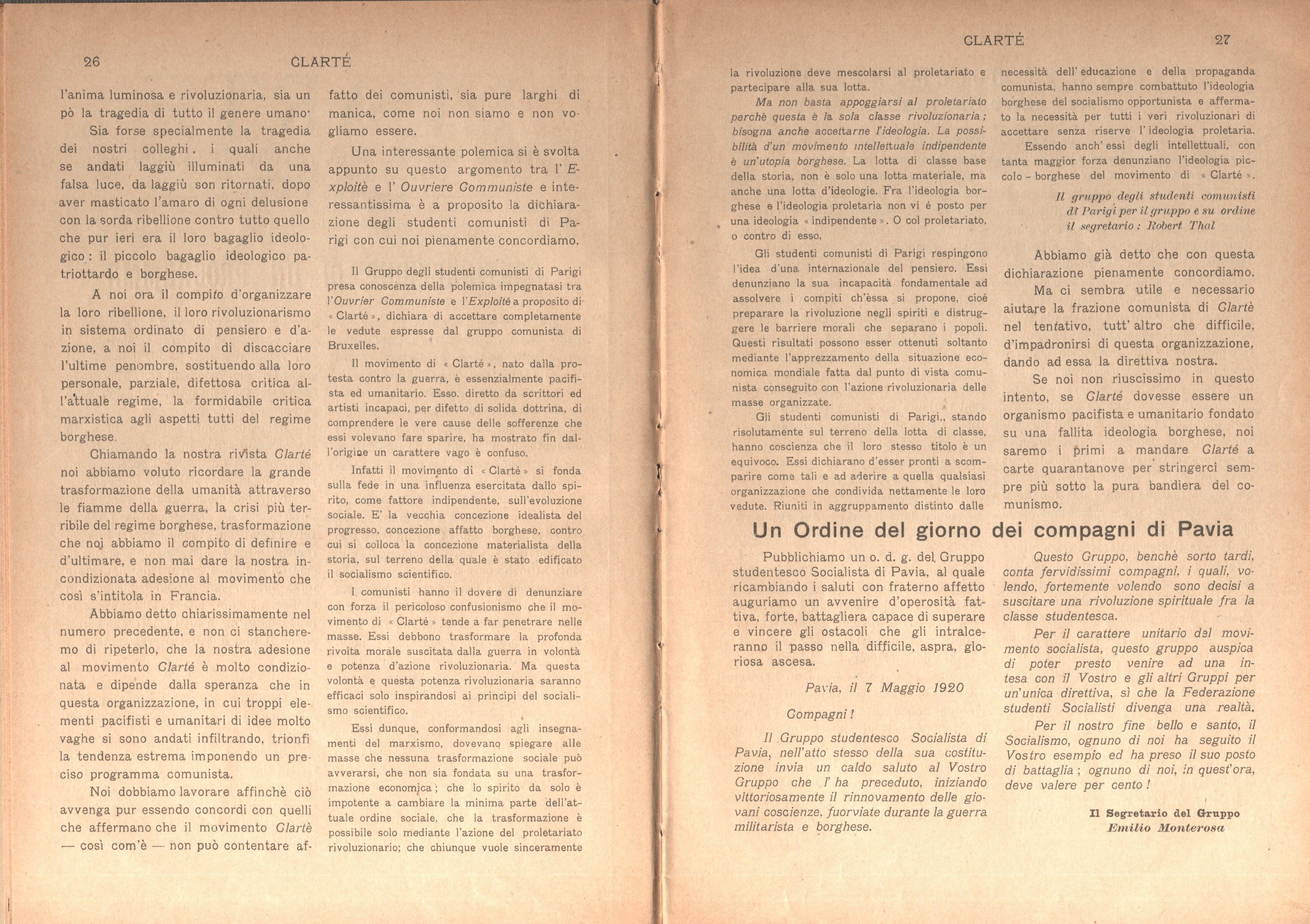 Clarté. Rivista mensile degli studenti comunisti (a. I, n. 2, Palermo, 15 giugno 1920) - pag. 3