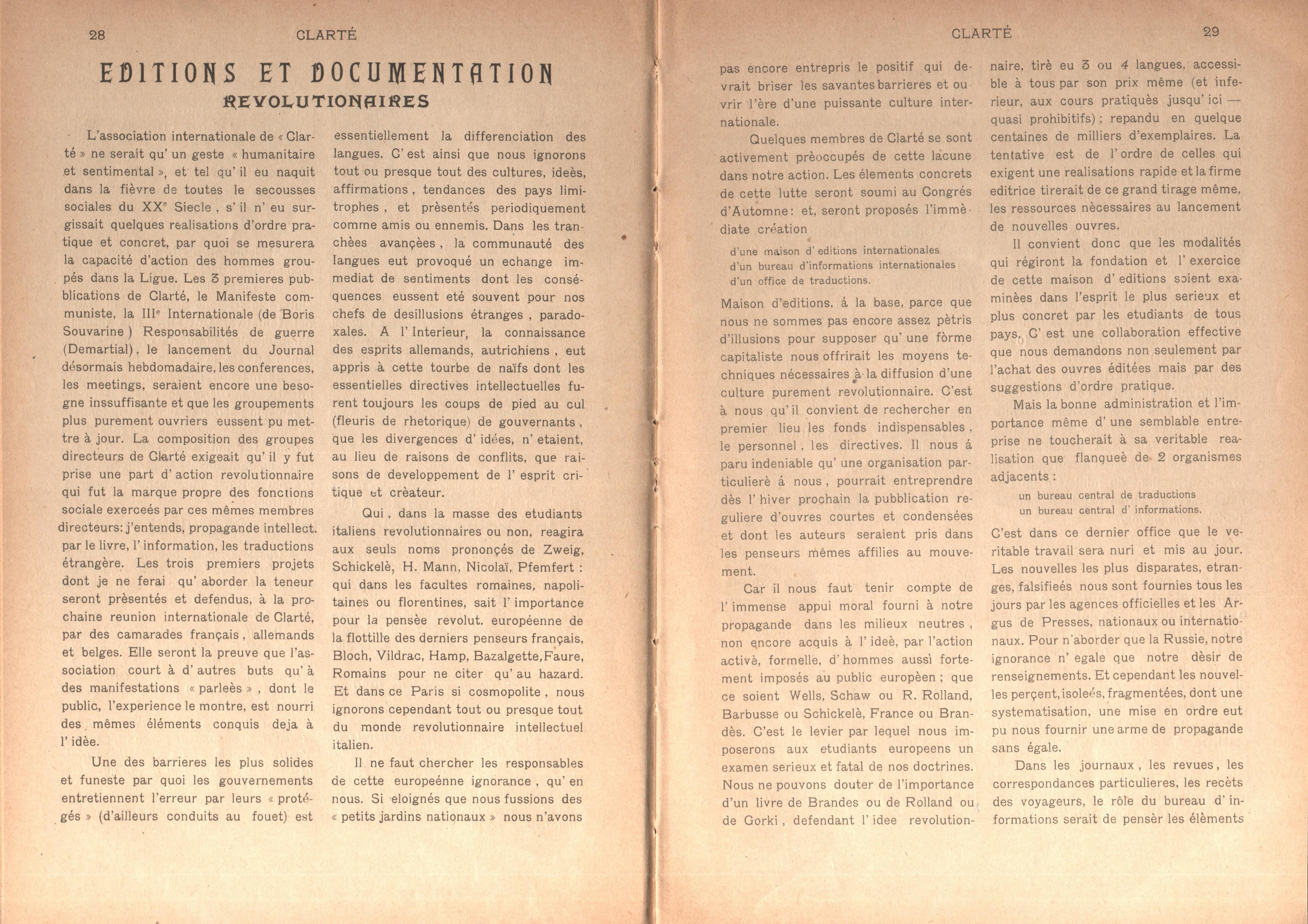 Clarté. Rivista mensile degli studenti comunisti (a. I, n. 2, Palermo, 15 giugno 1920) - pag. 4