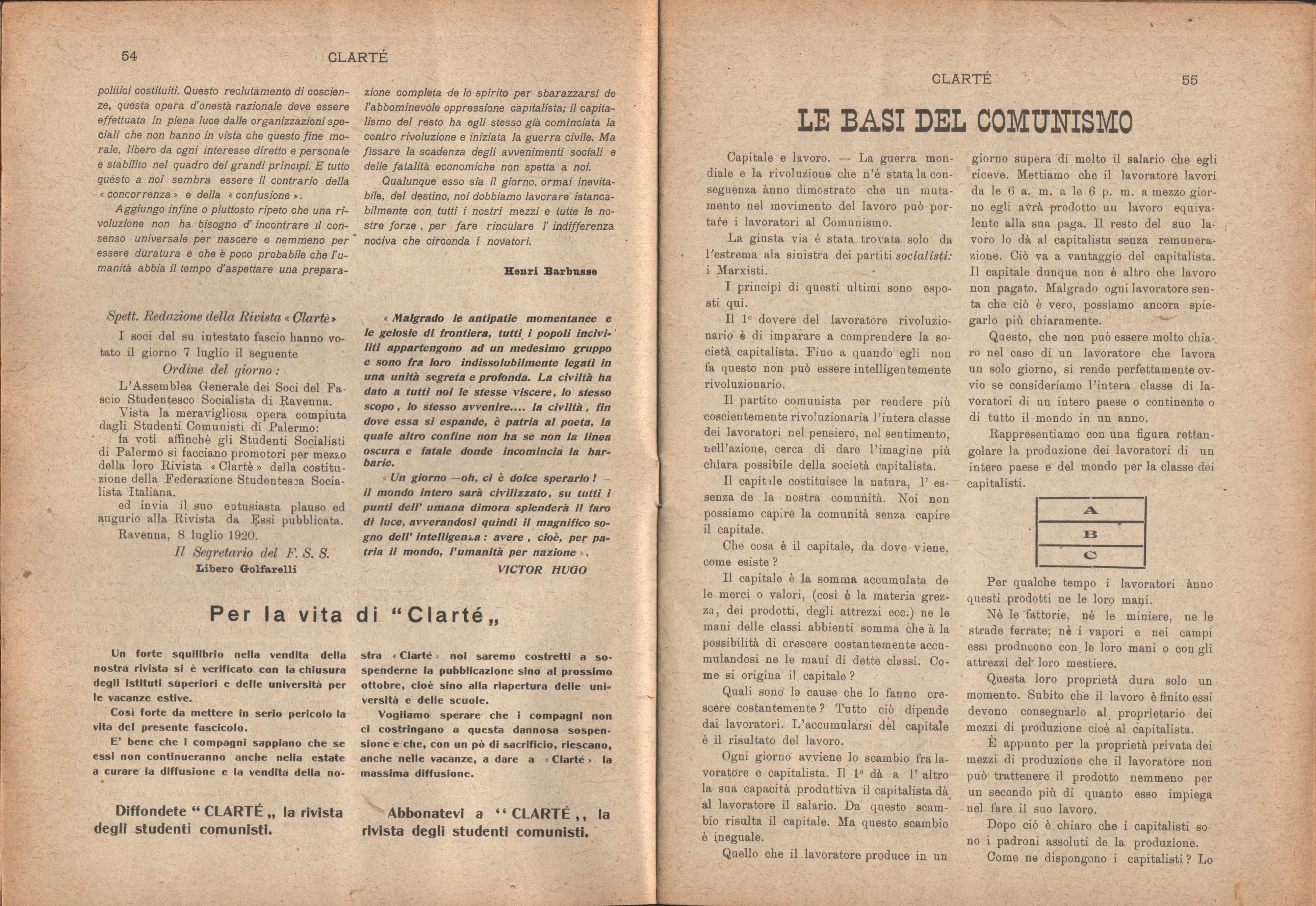 Clarté. Rivista mensile degli studenti comunisti (a. I, n. 3, Palermo, 15 luglio 1920) - pag. 5