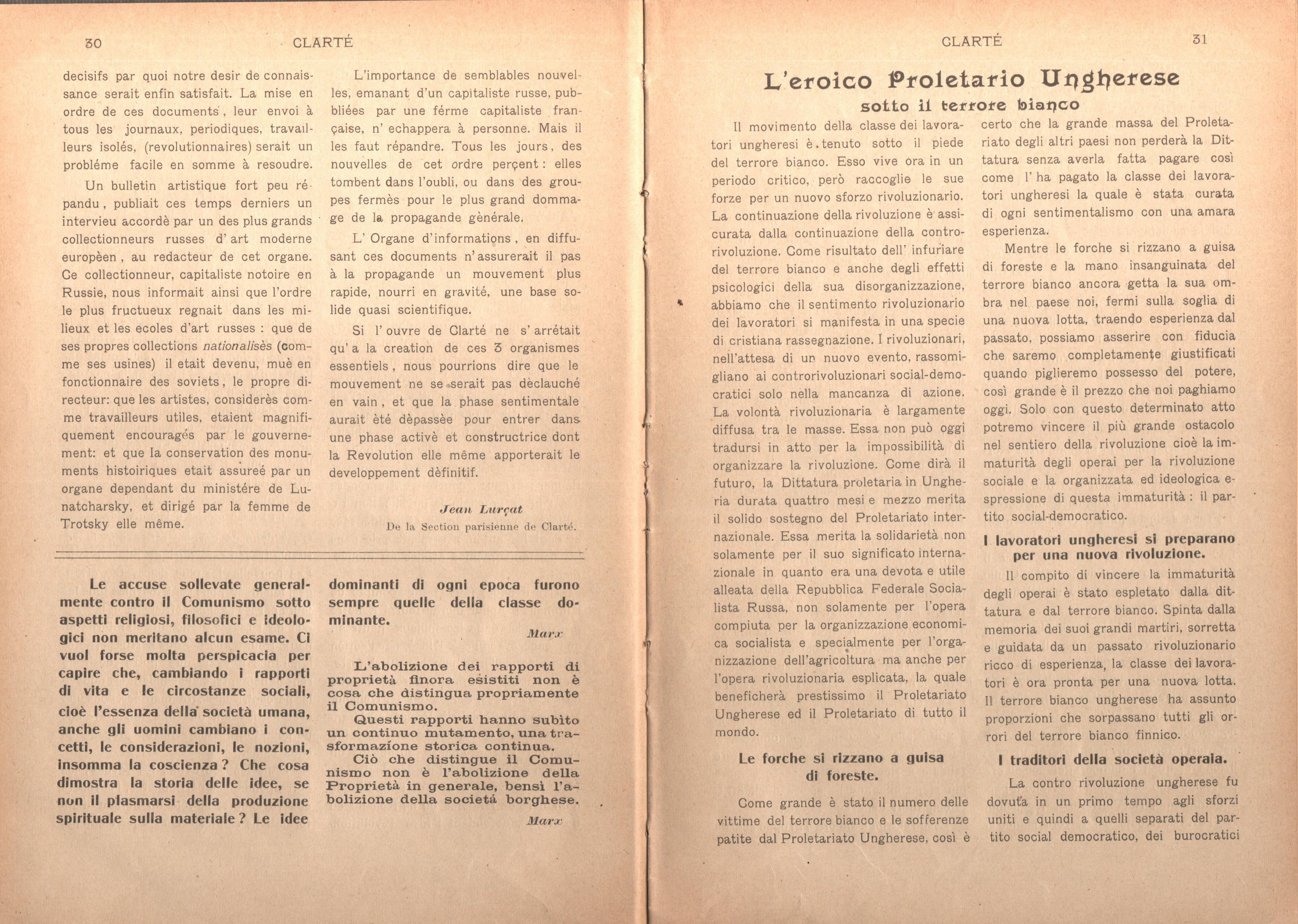 Clarté. Rivista mensile degli studenti comunisti (a. I, n. 2, Palermo, 15 giugno 1920) - pag. 5