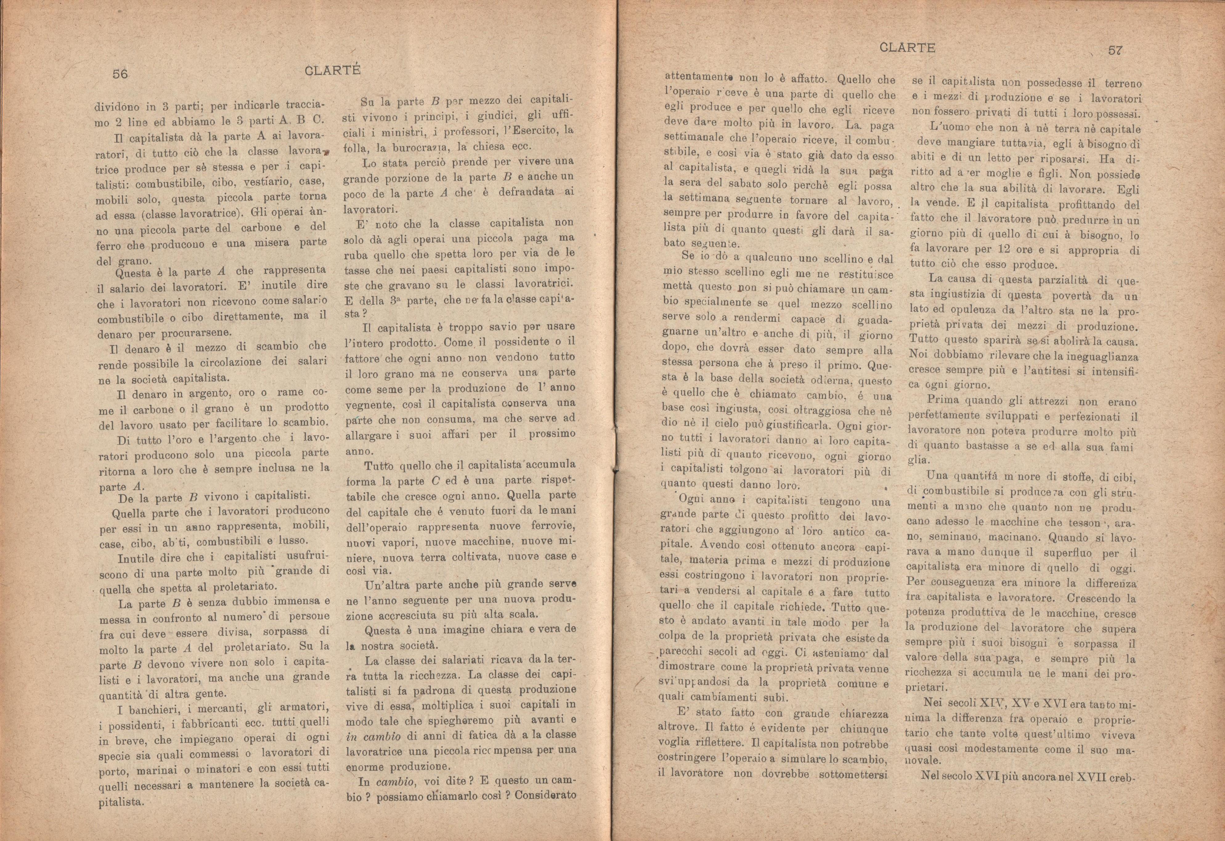 Clarté. Rivista mensile degli studenti comunisti (a. I, n. 3, Palermo, 15 luglio 1920) - pag. 6
