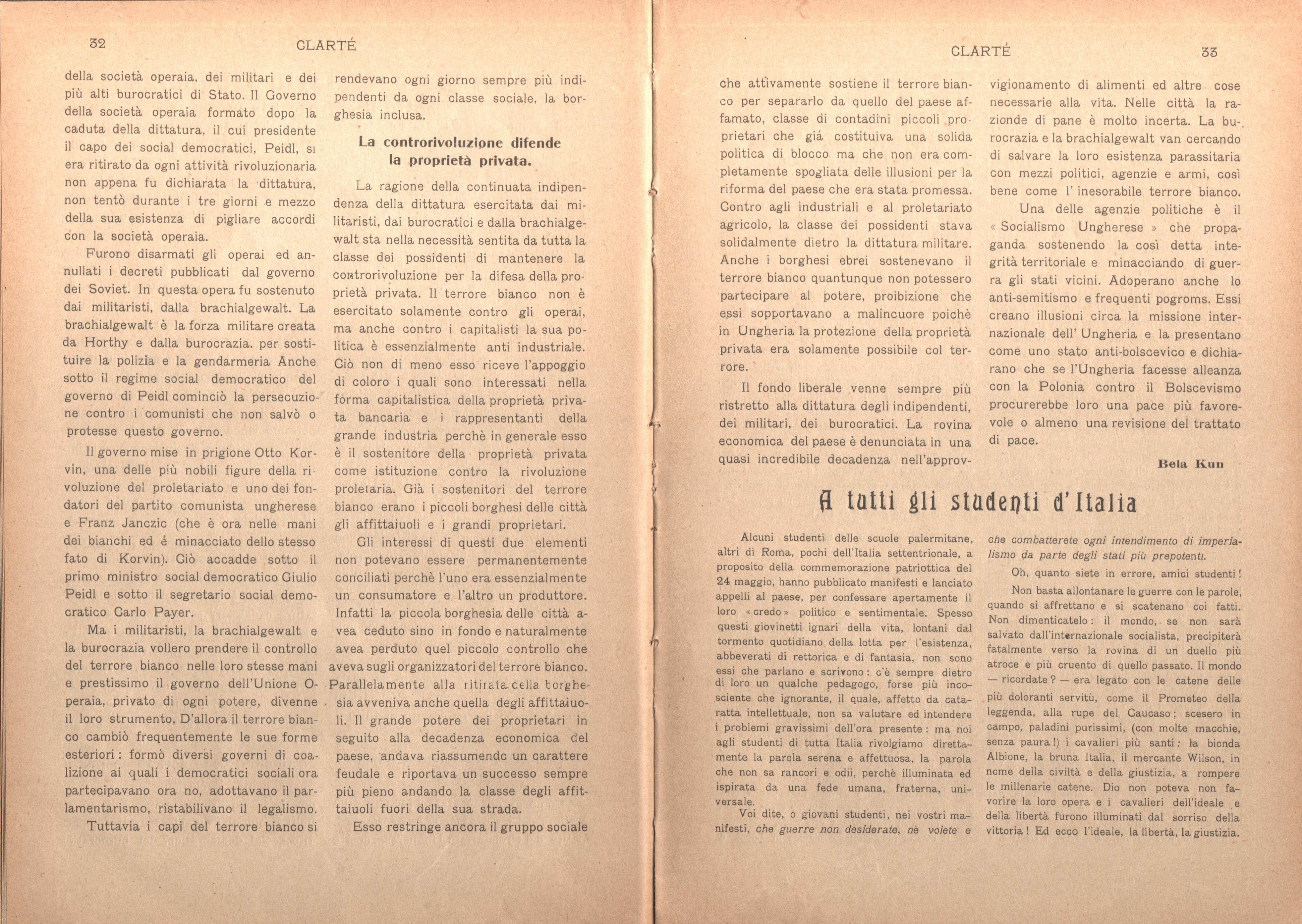 Clarté. Rivista mensile degli studenti comunisti (a. I, n. 2, Palermo, 15 giugno 1920) - pag. 6