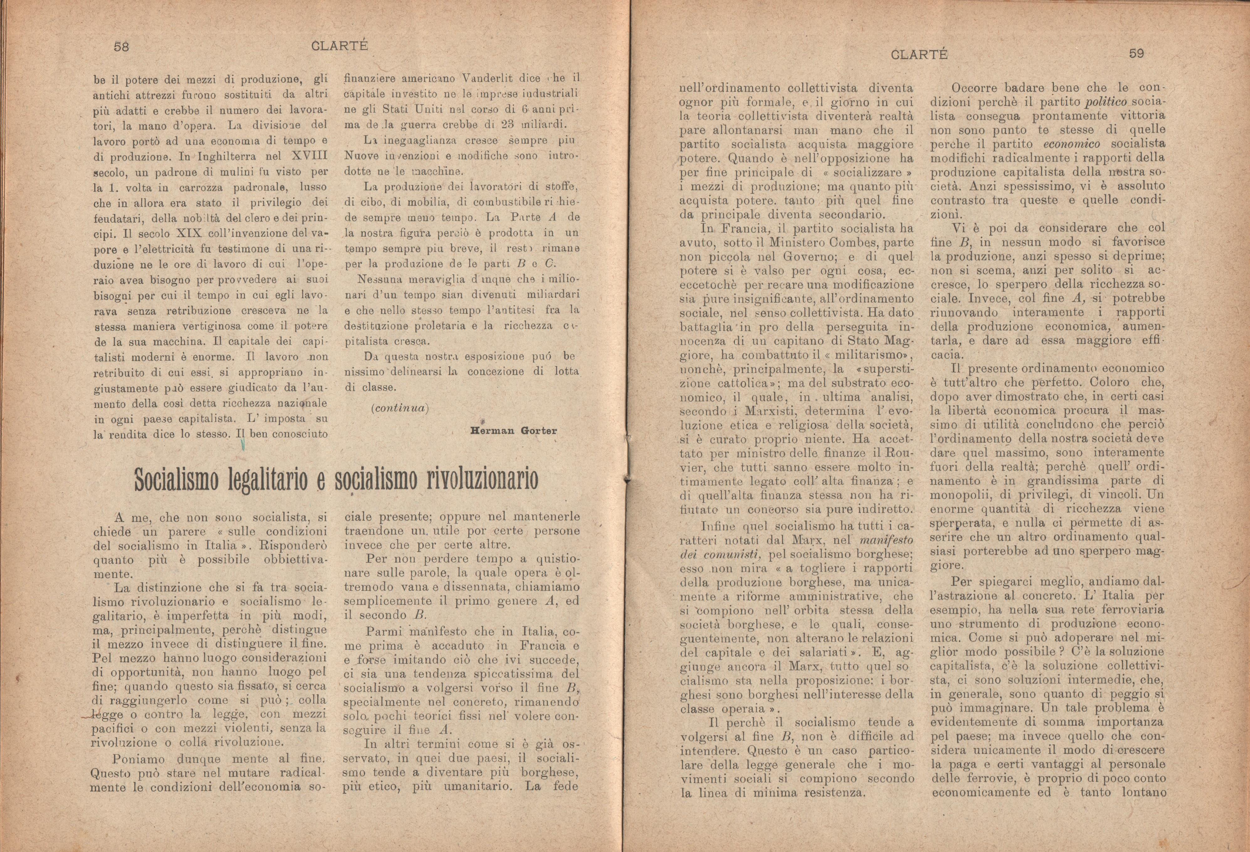Clarté. Rivista mensile degli studenti comunisti (a. I, n. 3, Palermo, 15 luglio 1920) - pag. 7