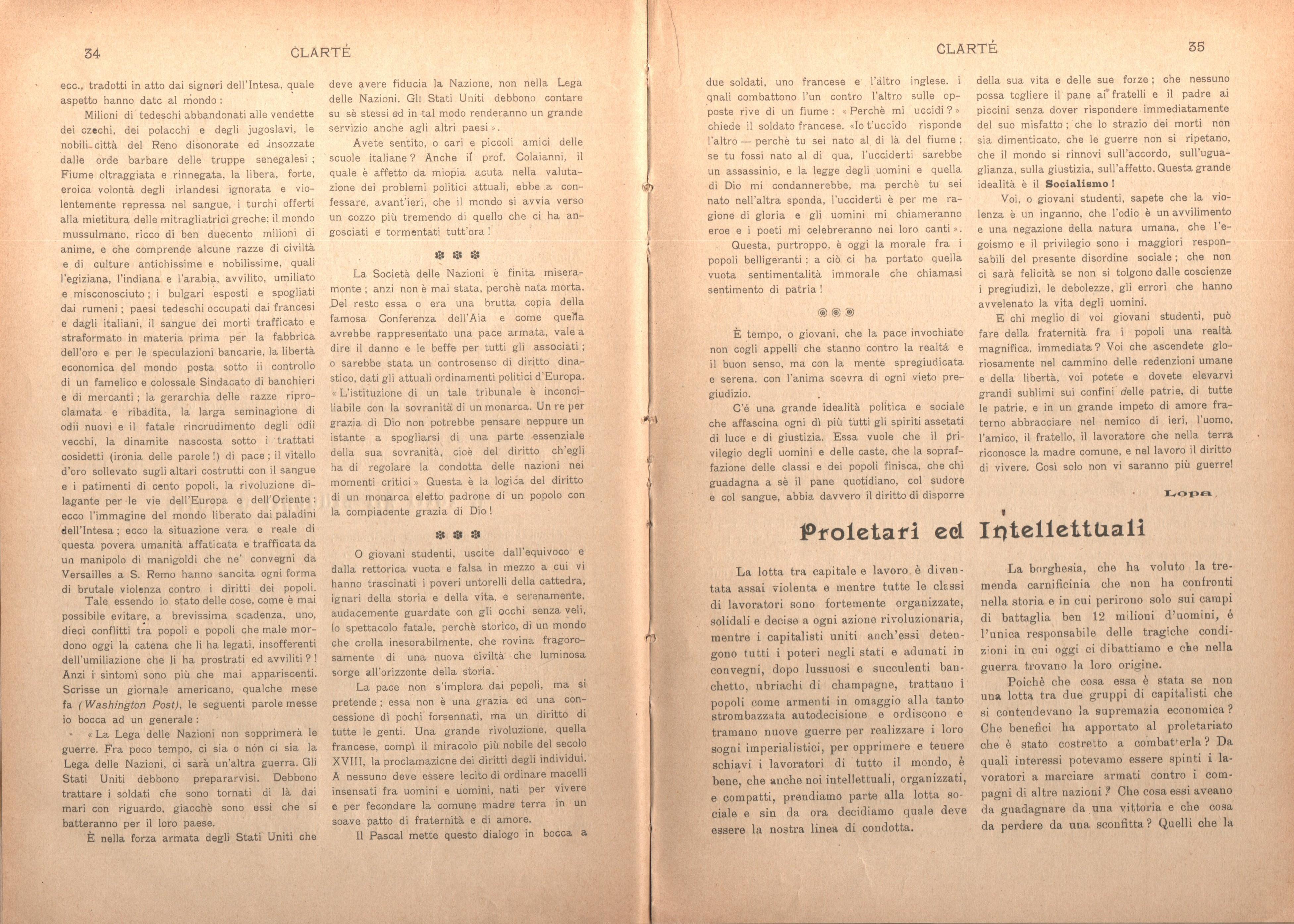 Clarté. Rivista mensile degli studenti comunisti (a. I, n. 2, Palermo, 15 giugno 1920) - pag. 7