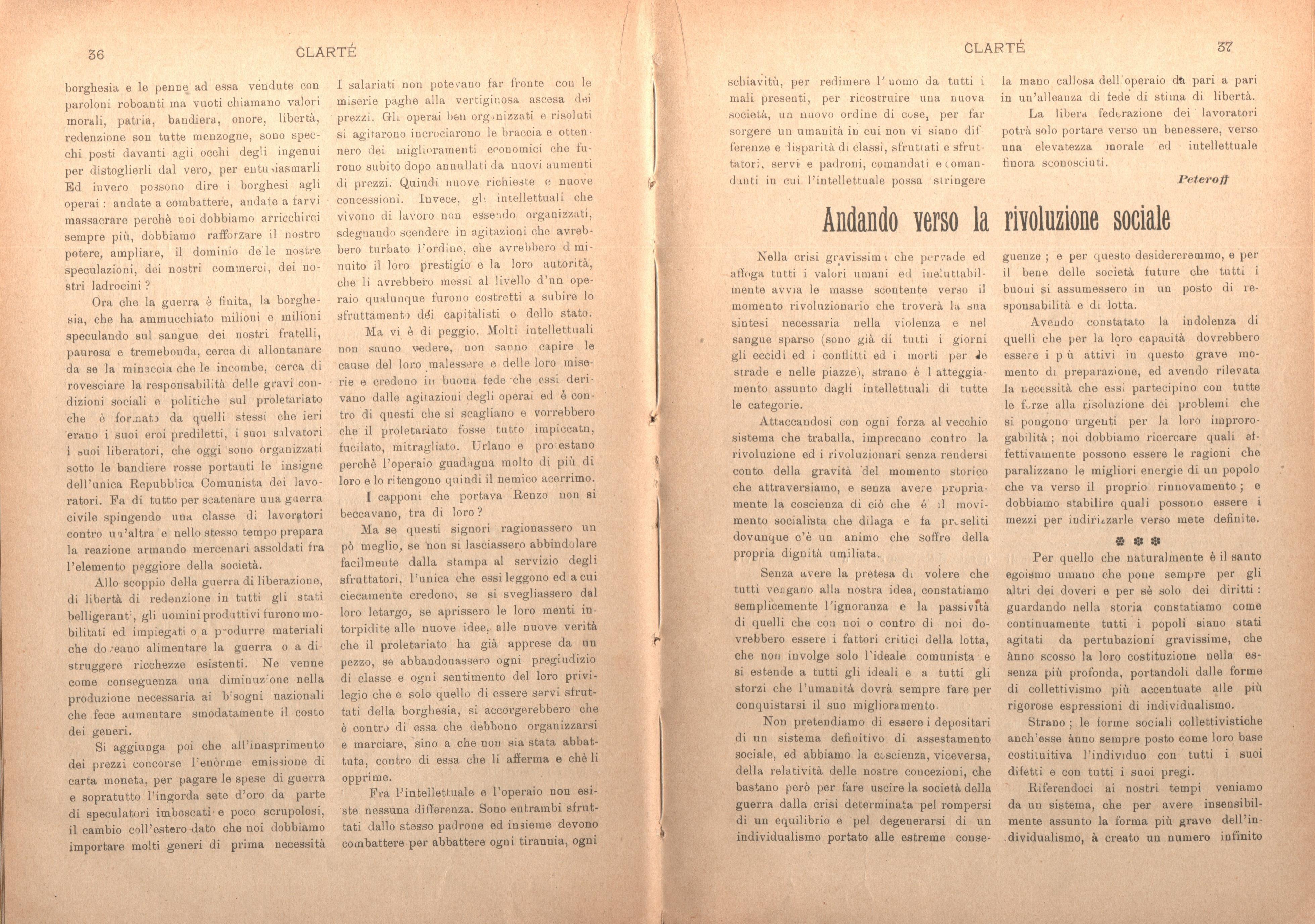 Clarté. Rivista mensile degli studenti comunisti (a. I, n. 2, Palermo, 15 giugno 1920) - pag. 8