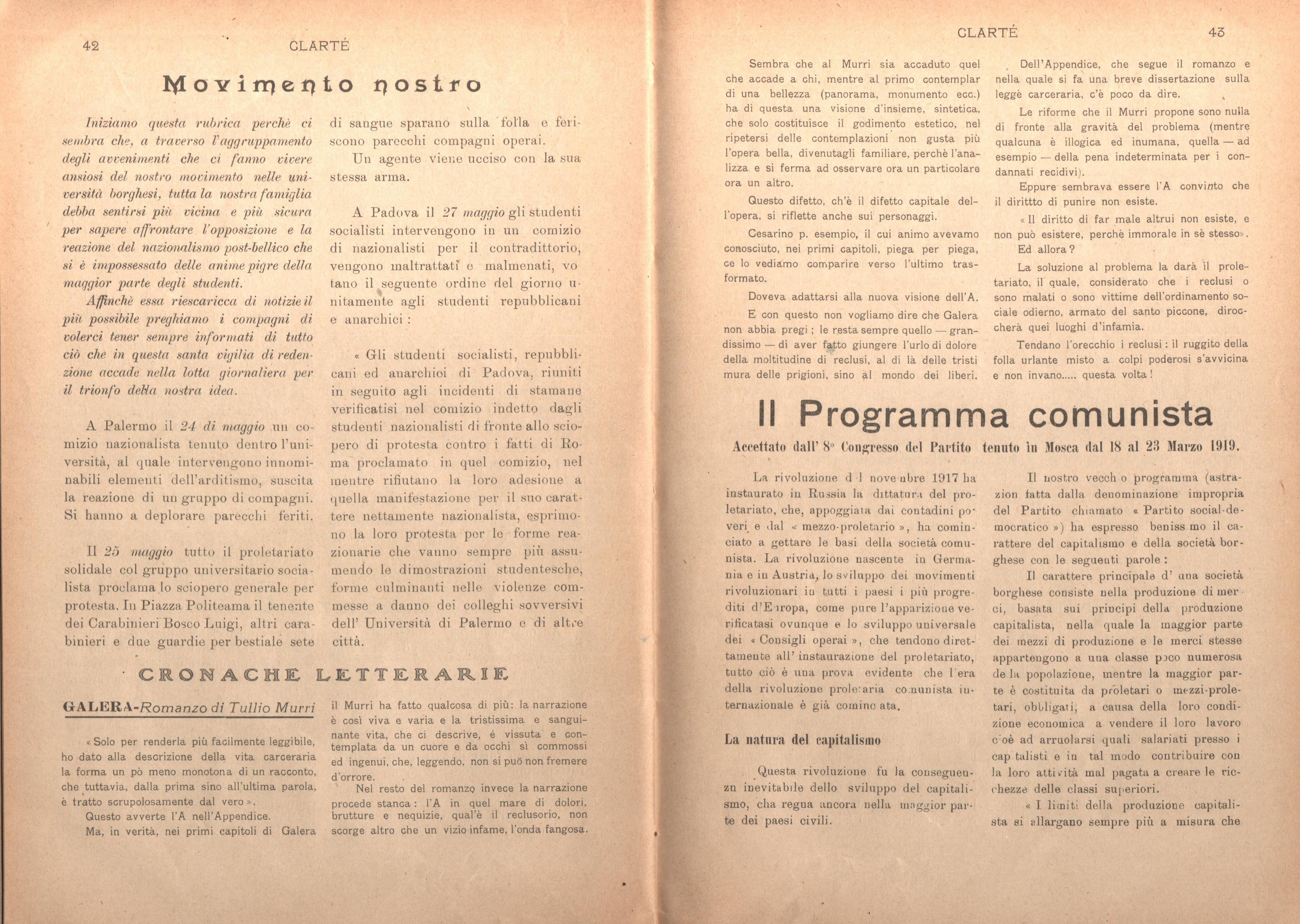 Clarté. Rivista mensile degli studenti comunisti (a. I, n. 2, Palermo, 15 giugno 1920) - pag. 11