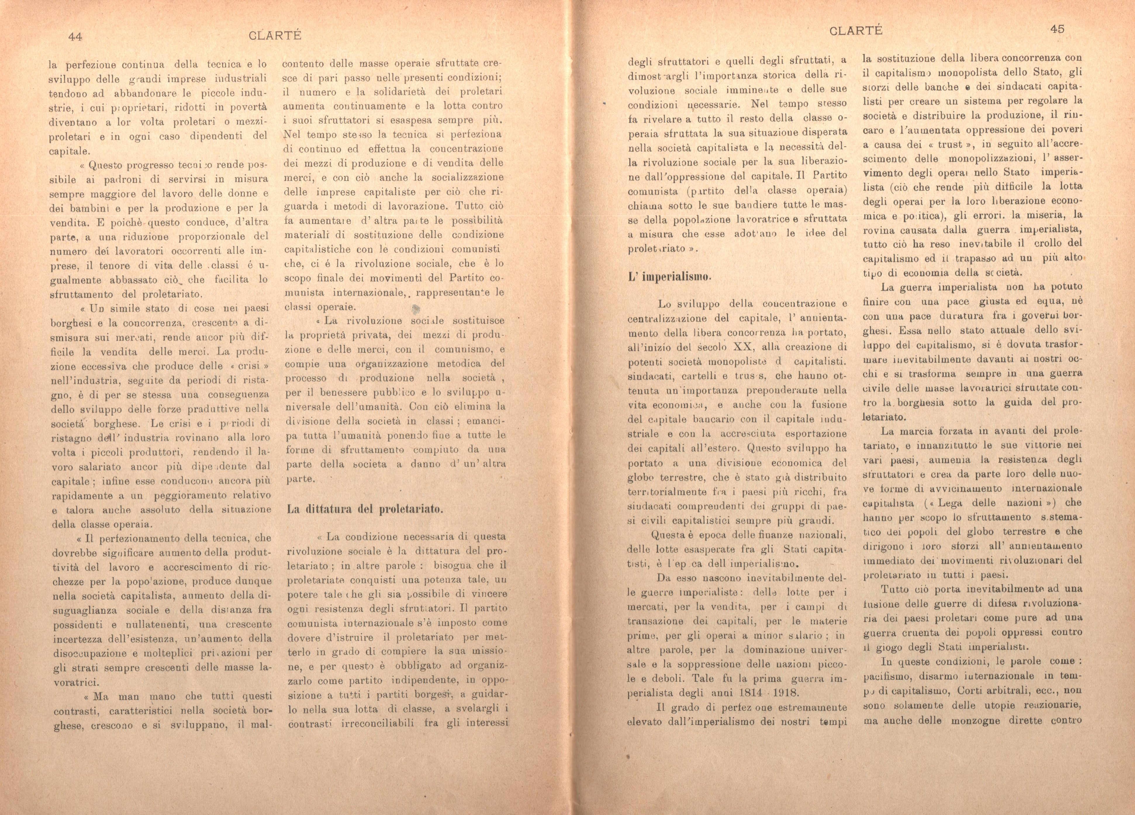 Clarté. Rivista mensile degli studenti comunisti (a. I, n. 2, Palermo, 15 giugno 1920) - pag. 12