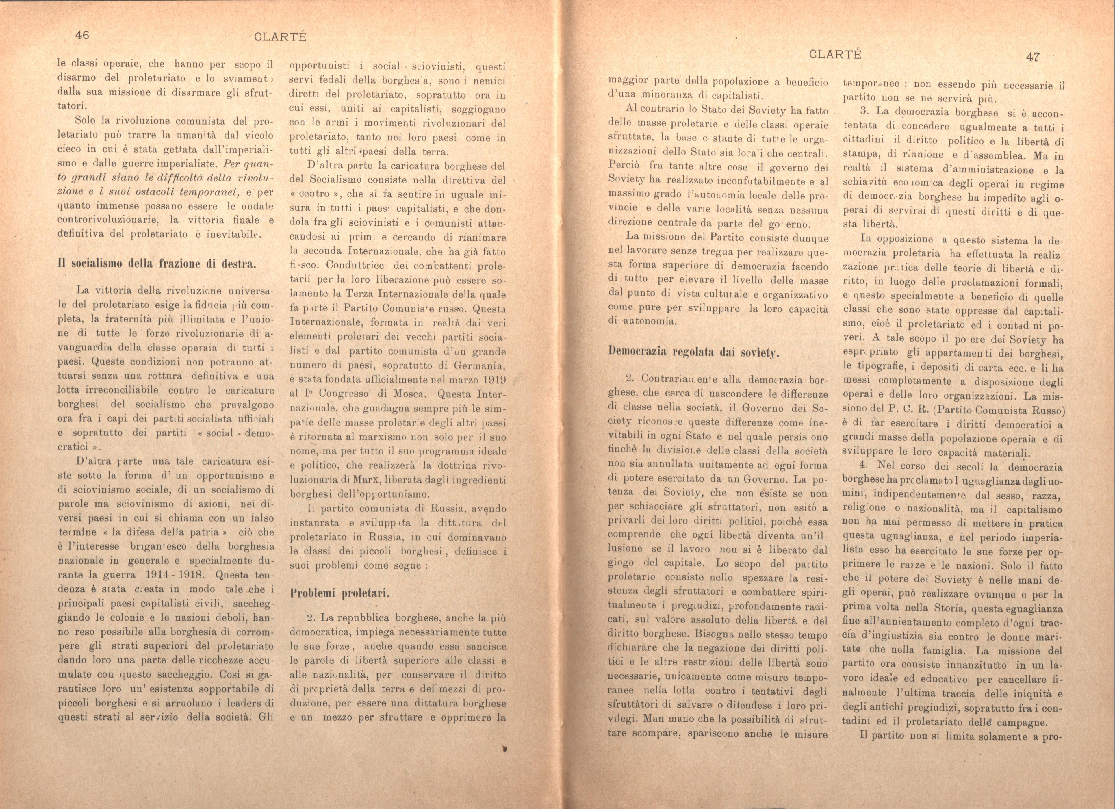 Clarté. Rivista mensile degli studenti comunisti (a. I, n. 2, Palermo, 15 giugno 1920) - pag. 13