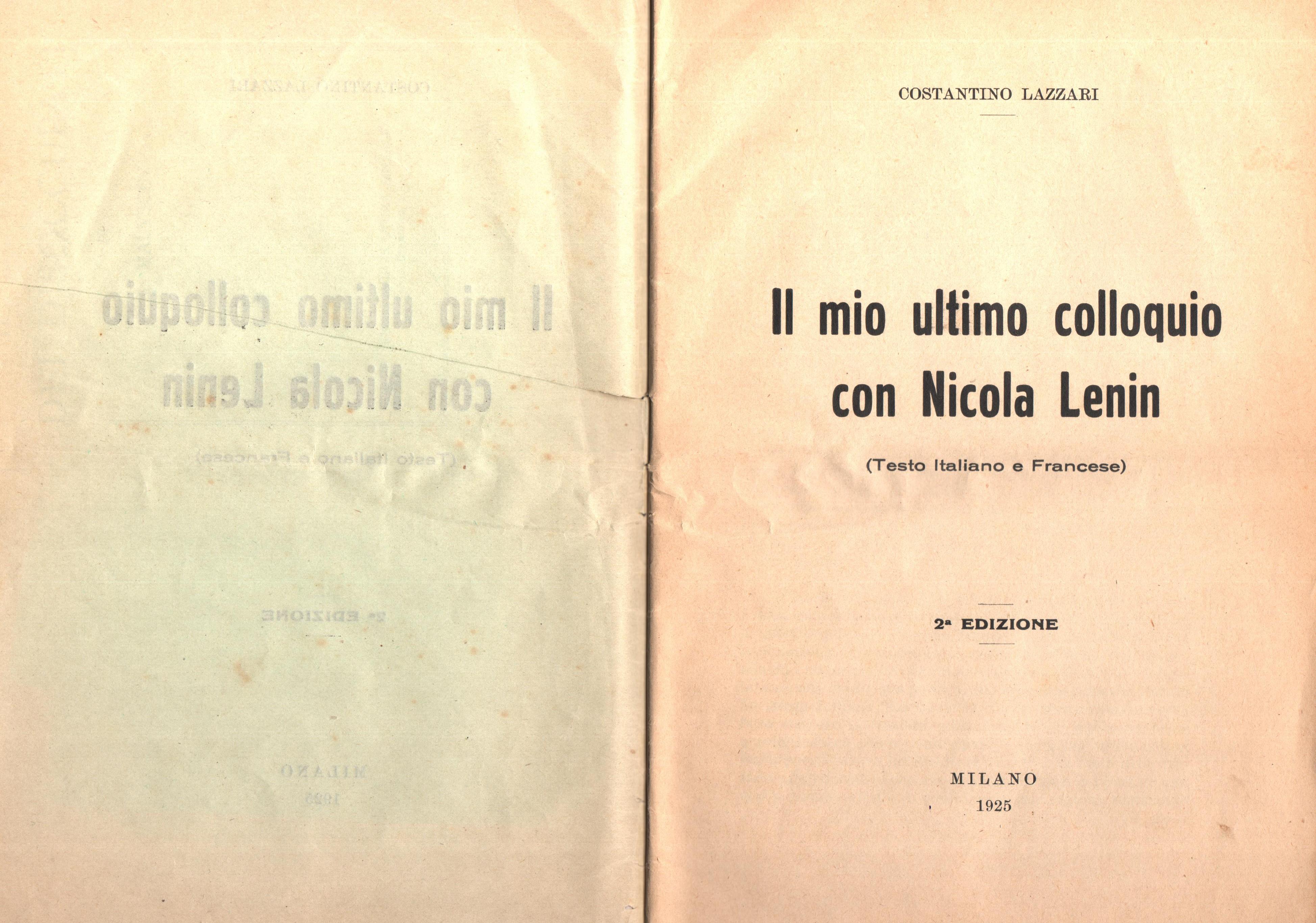 C. Lazzari, Il mio ultimo colloquio con Nicola Lenin - pag. 2