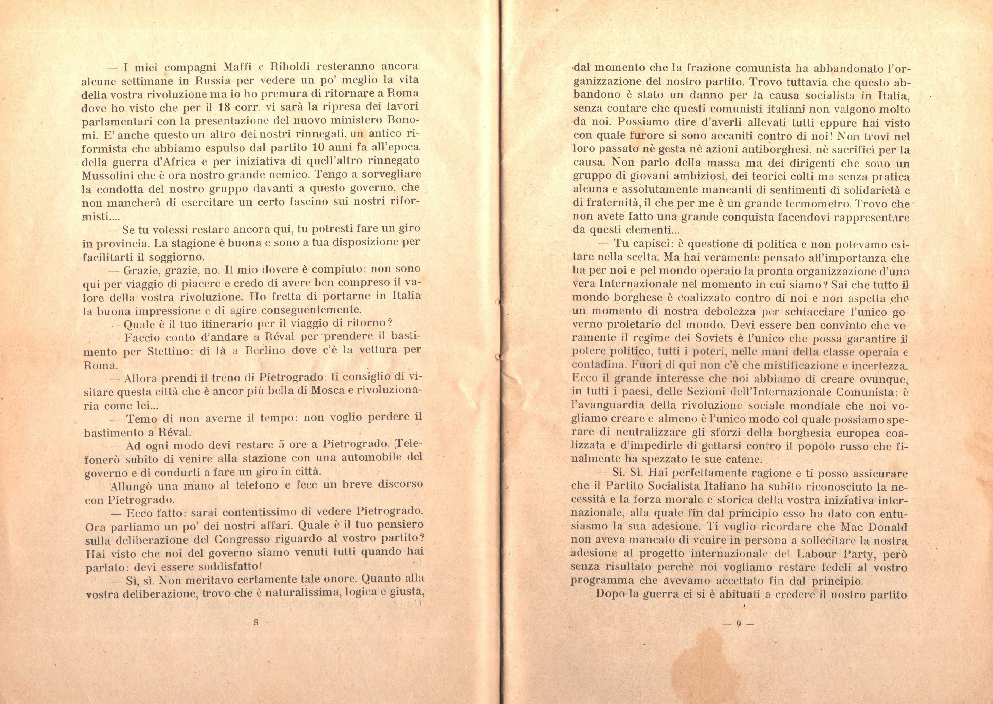 C. Lazzari, Il mio ultimo colloquio con Nicola Lenin - pag. 6