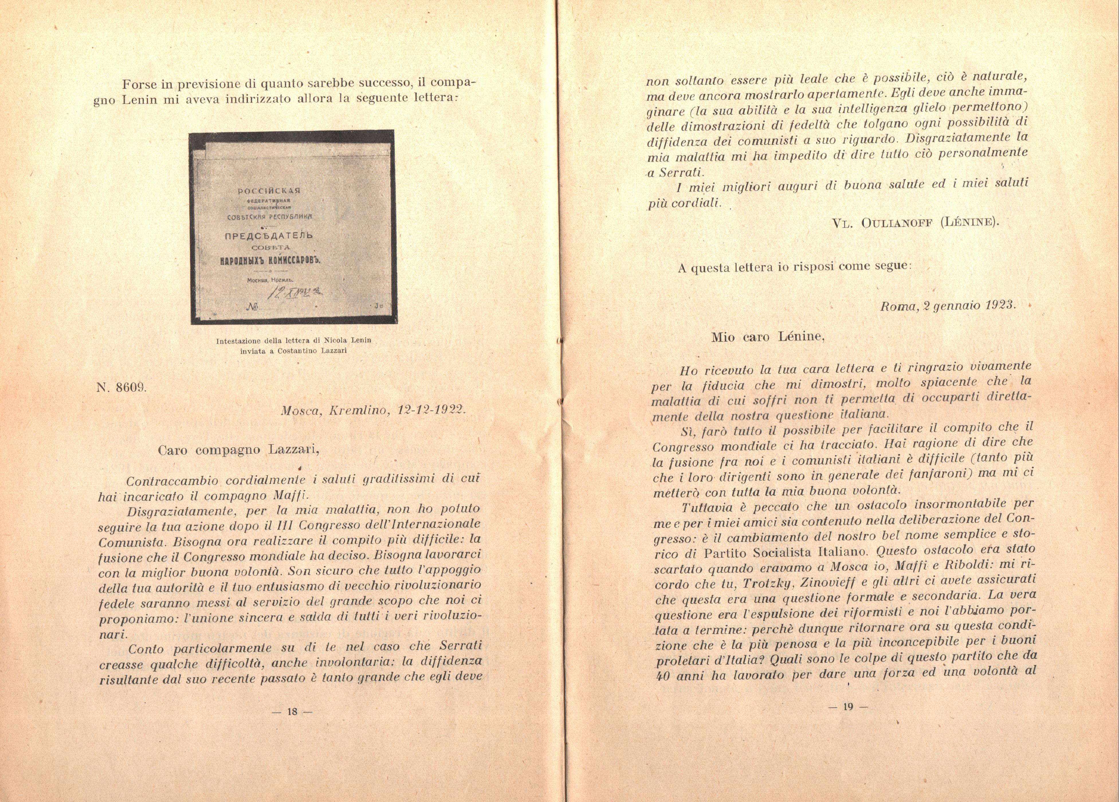 C. Lazzari, Il mio ultimo colloquio con Nicola Lenin - pag. 11