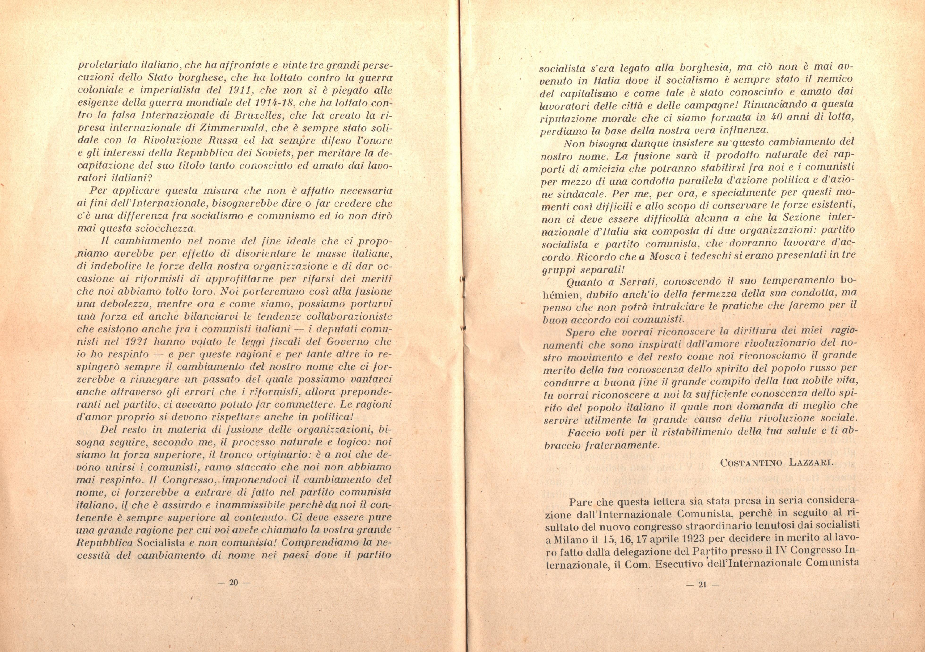 C. Lazzari, Il mio ultimo colloquio con Nicola Lenin - pag. 12