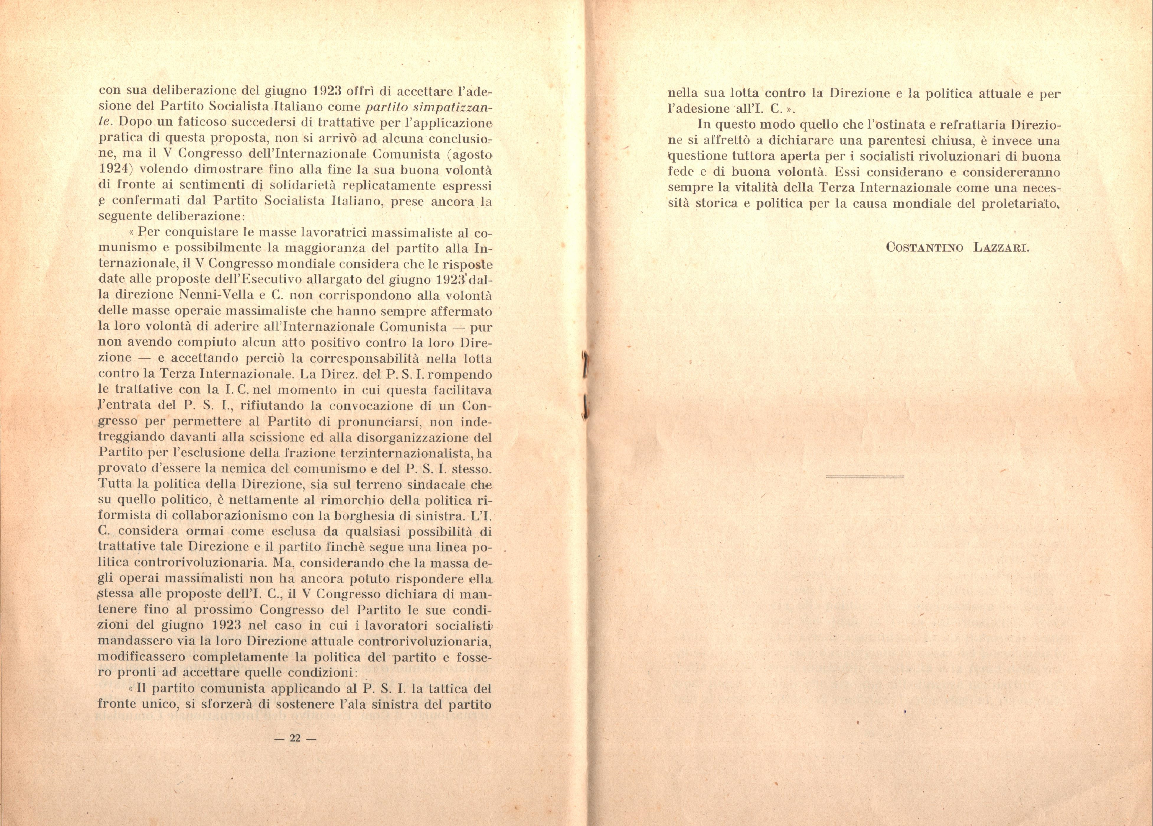 C. Lazzari, Il mio ultimo colloquio con Nicola Lenin - pag. 13