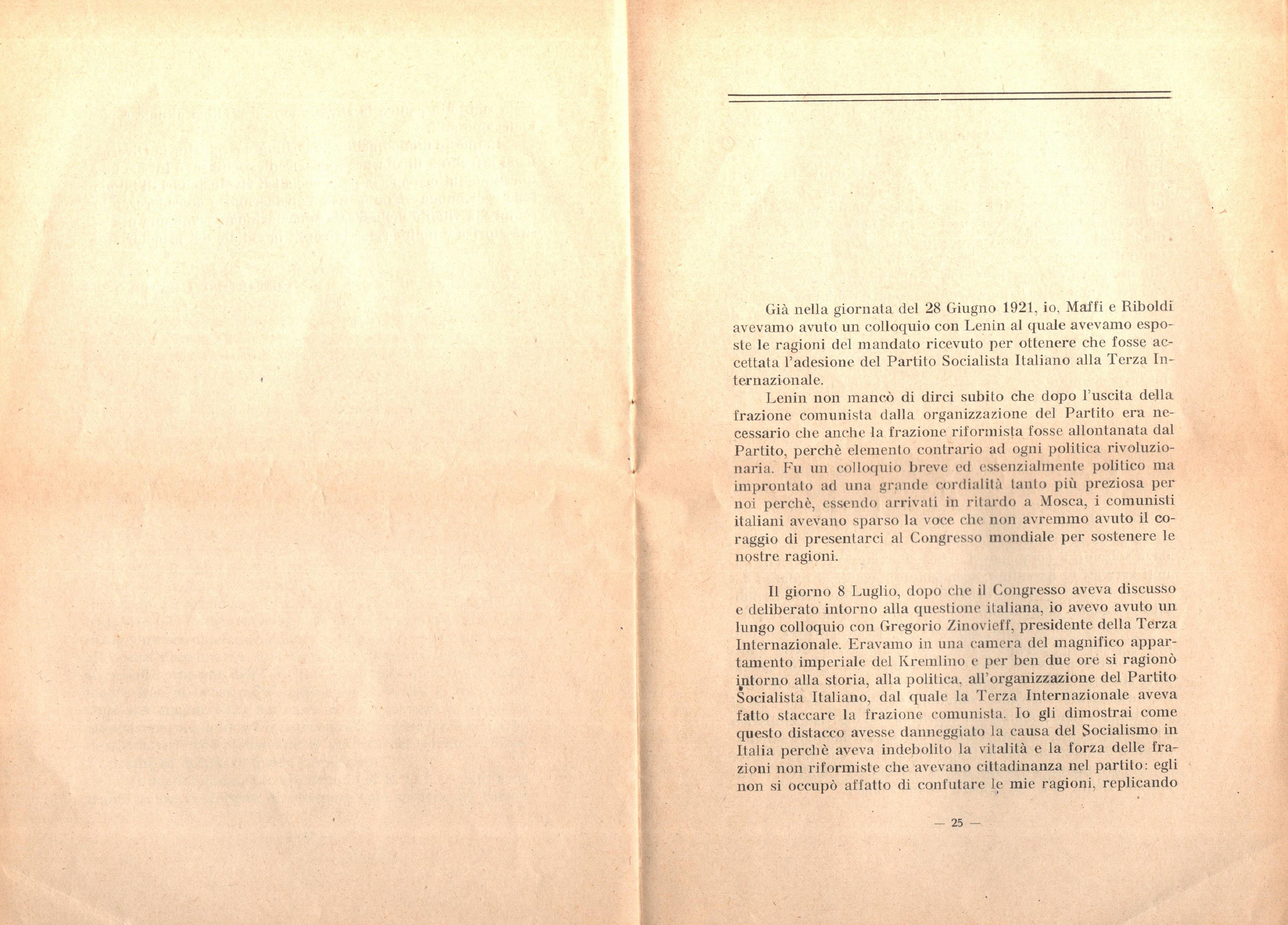 C. Lazzari, Il mio ultimo colloquio con Nicola Lenin - pag. 14